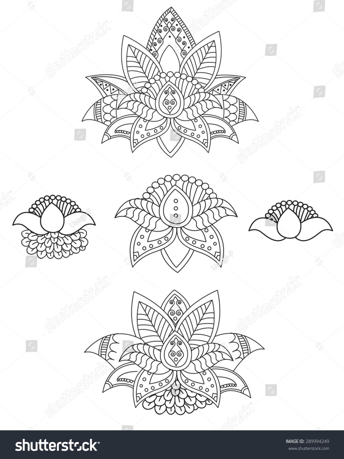 Royalty Free Beautiful Lotus Ornament Vector Yoga 289994249