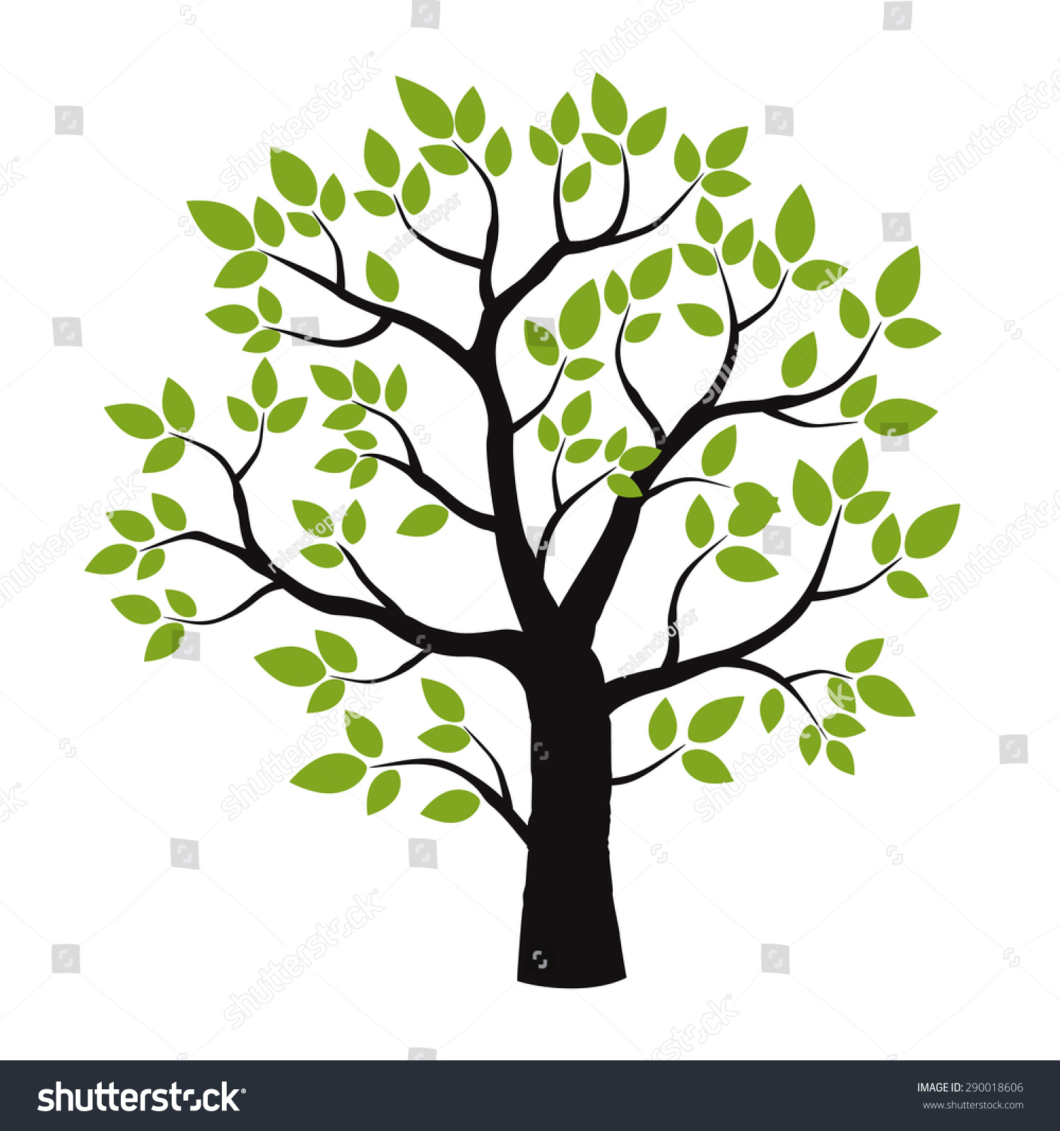 Color Tree Vector Illustration Stock Vector HD (Royalty Free ...