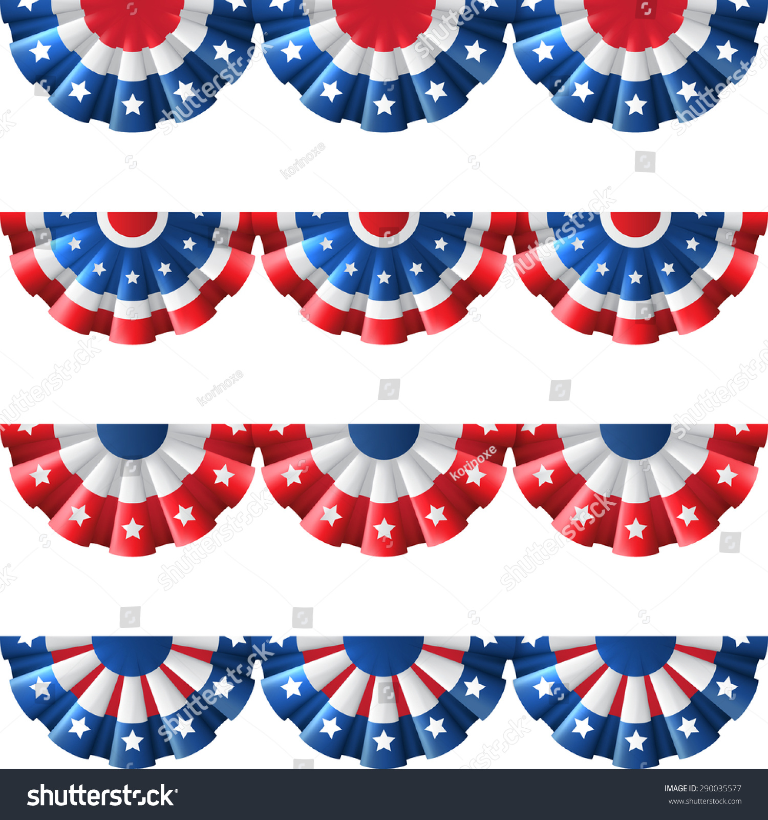 Us flag round bunting decoration isolated stock vector for American decoration