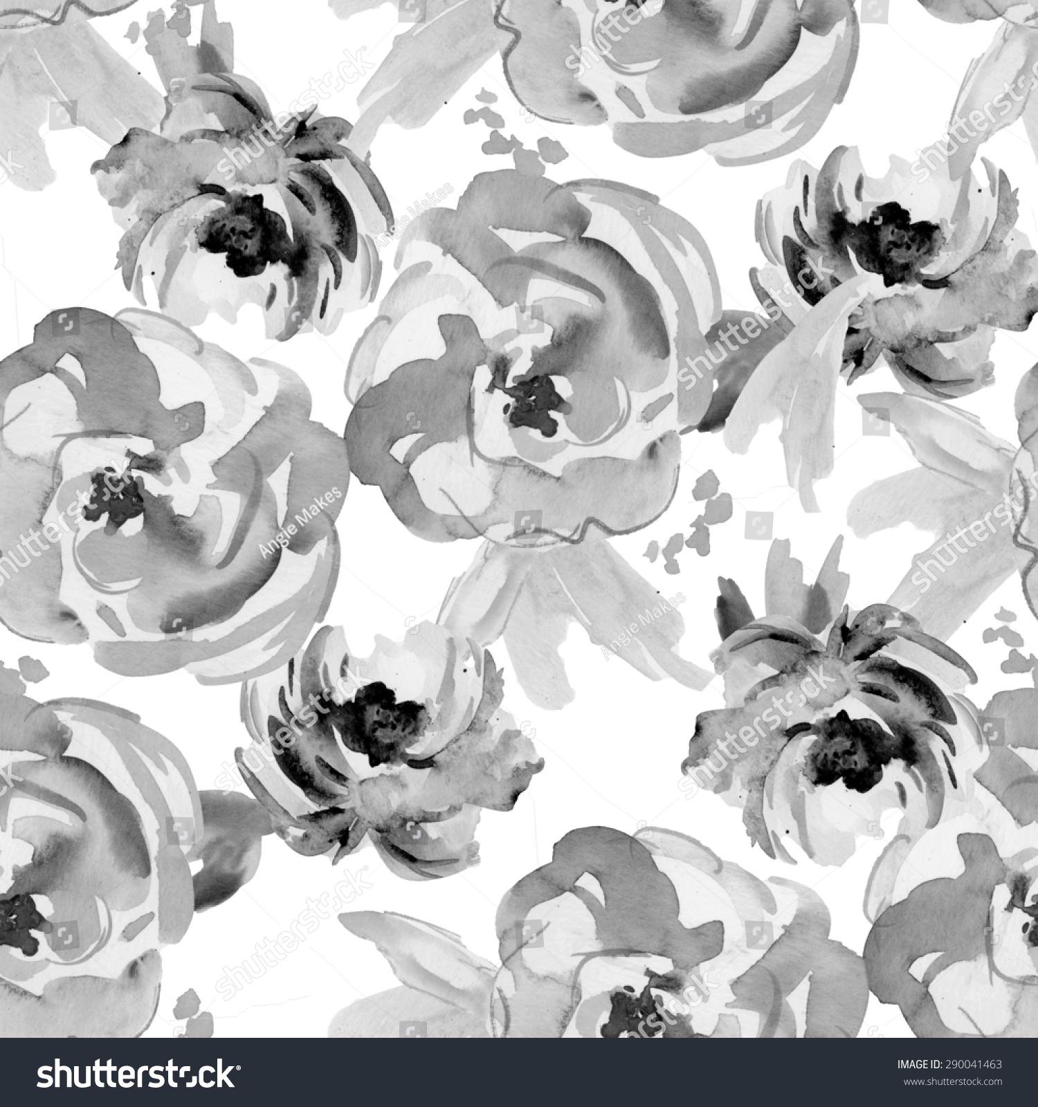 Repeating black white modern floral print stock illustration repeating black and white modern floral print pattern mightylinksfo