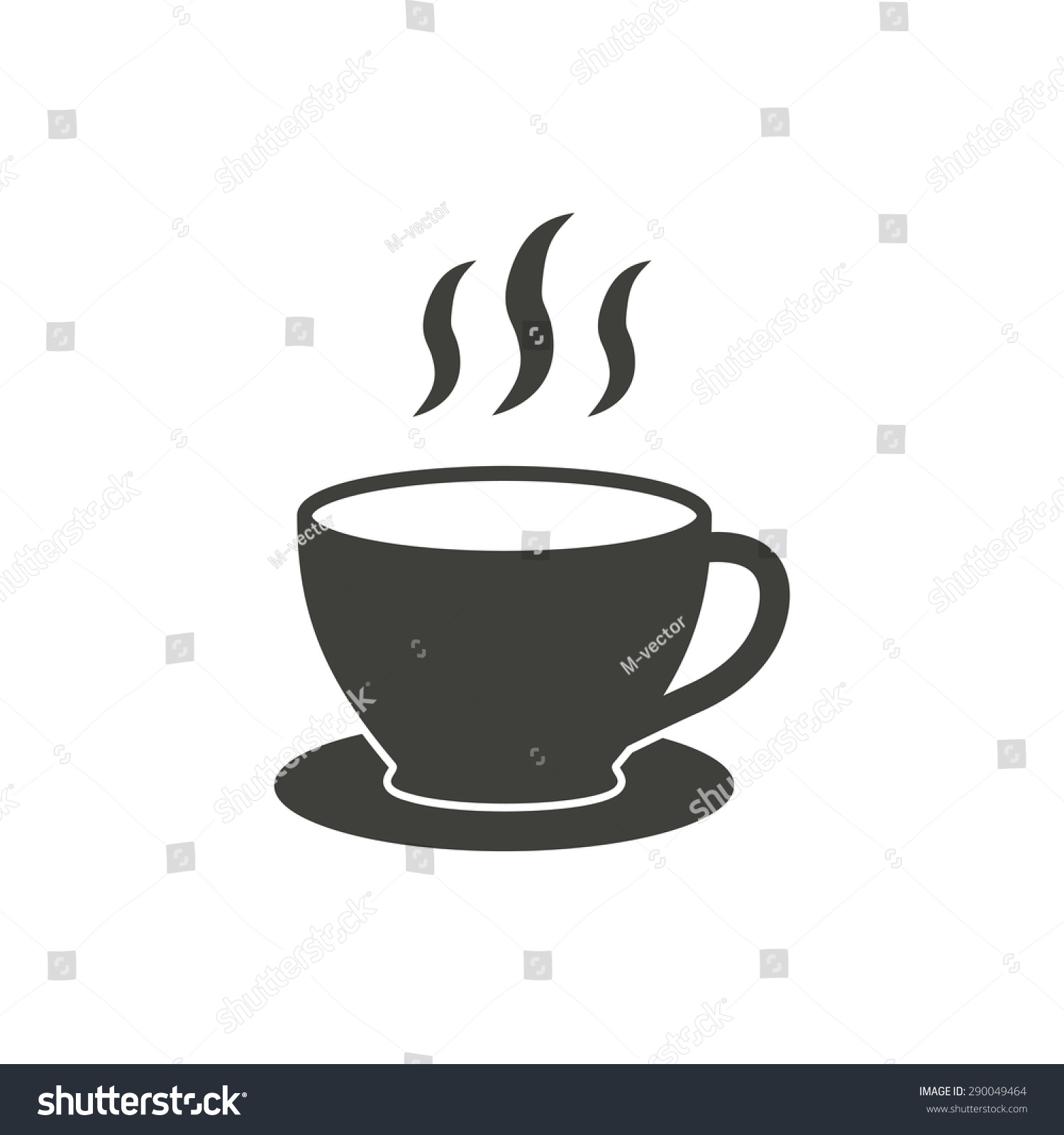 Coffee cup vector free - Coffee Cup Vector Icon In Black On A White Background