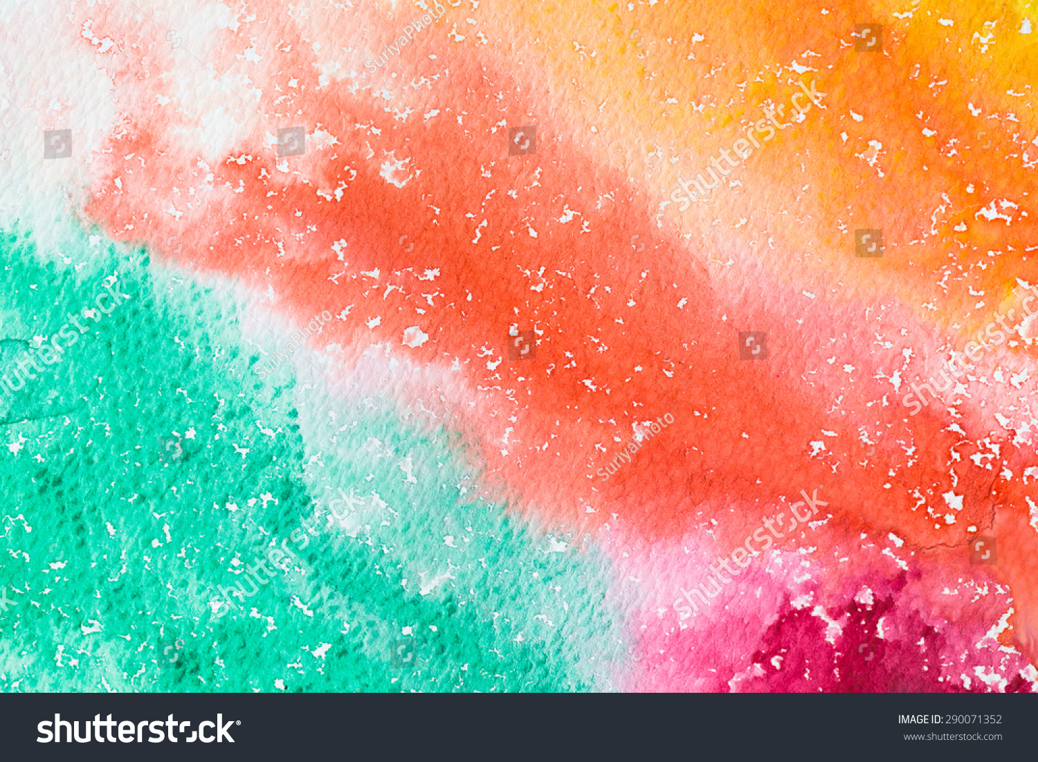 Hires Close Water Color Painting On Stock Photo 290071352 ...