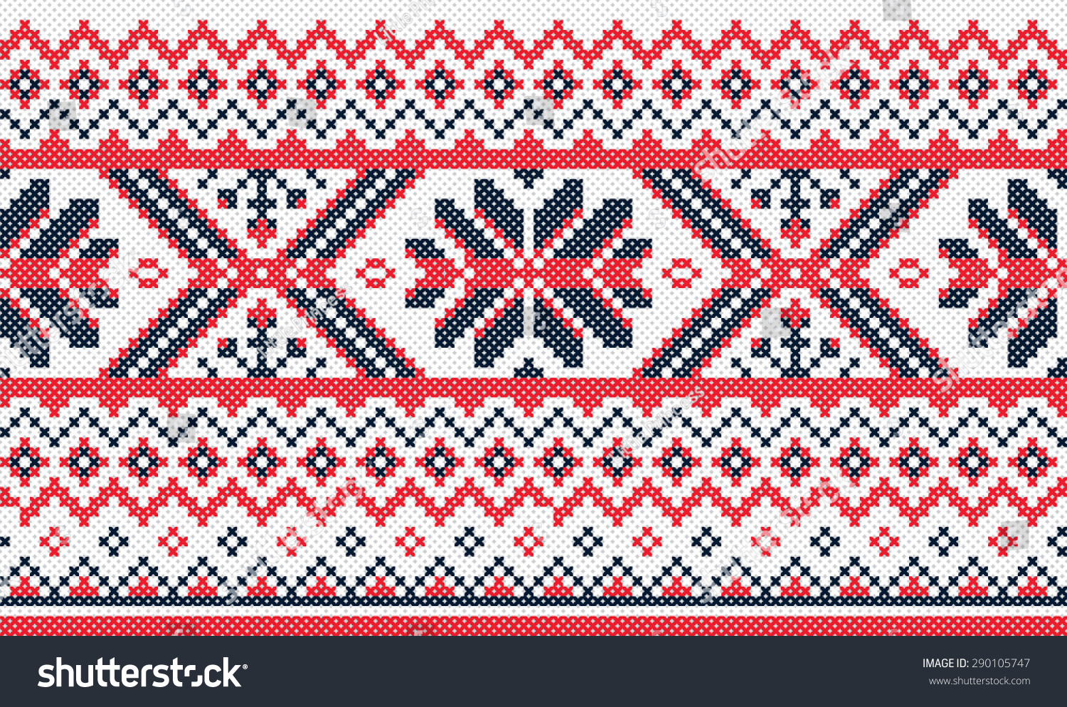 Traditional Ukrainian Embroidery Pattern Vector Pattern Stock Vector