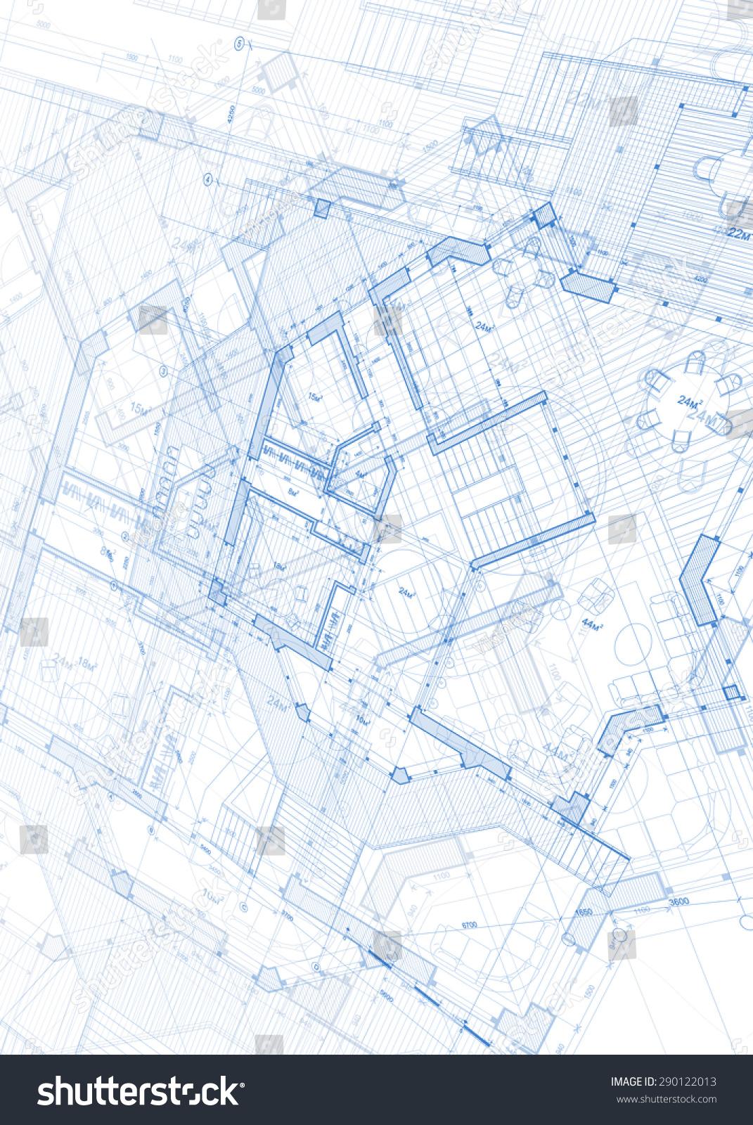 Architecture design blueprint vector illustration stock vector architecture design blueprint vector illustration malvernweather Gallery
