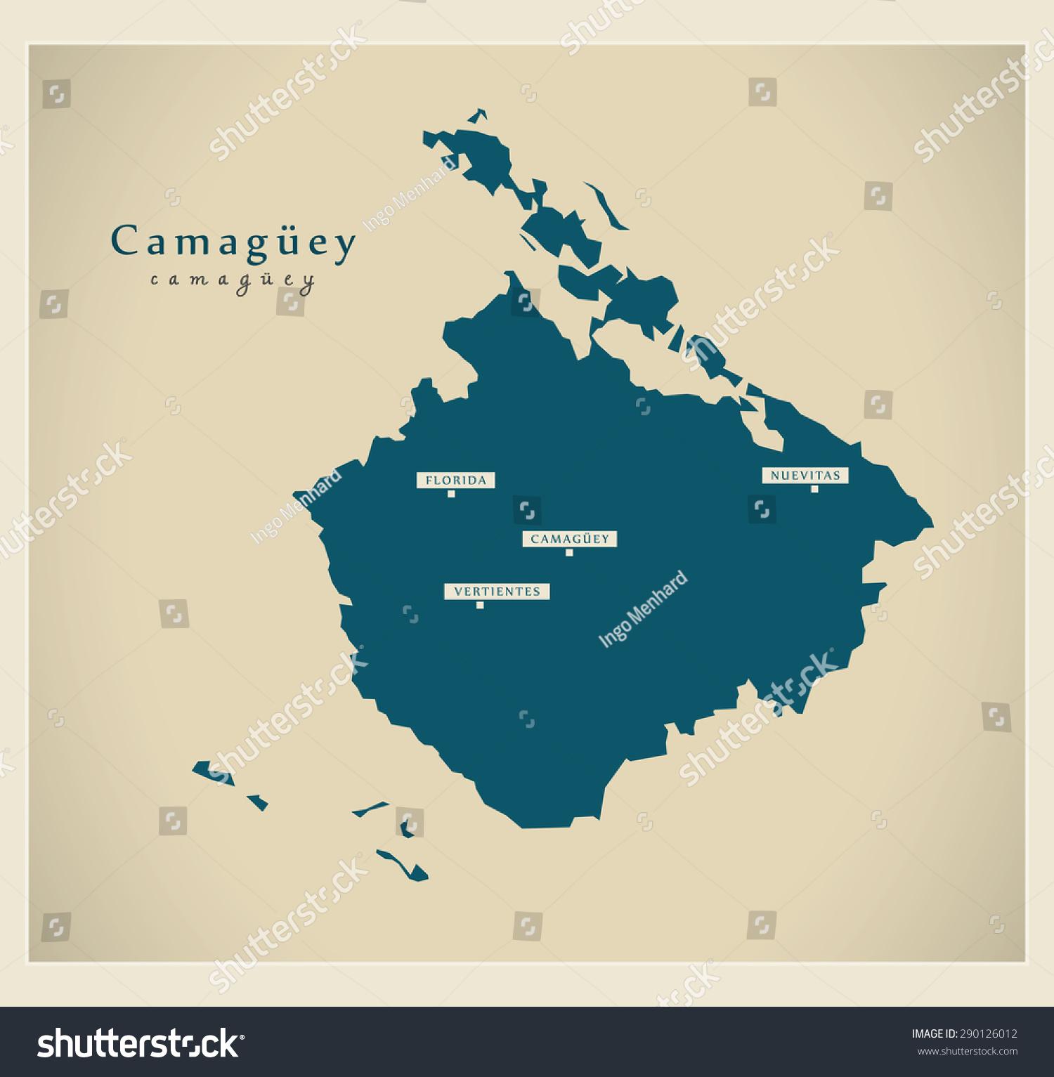 Modern Map Camaguey Cu Stock Vector 290126012 Shutterstock