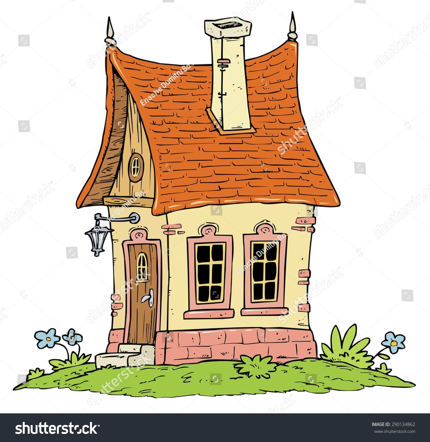 little cottage house fantasy cartoon illustration stock photo photo rh shutterstock com cartoon cottage pics cartoon cottage in the woods