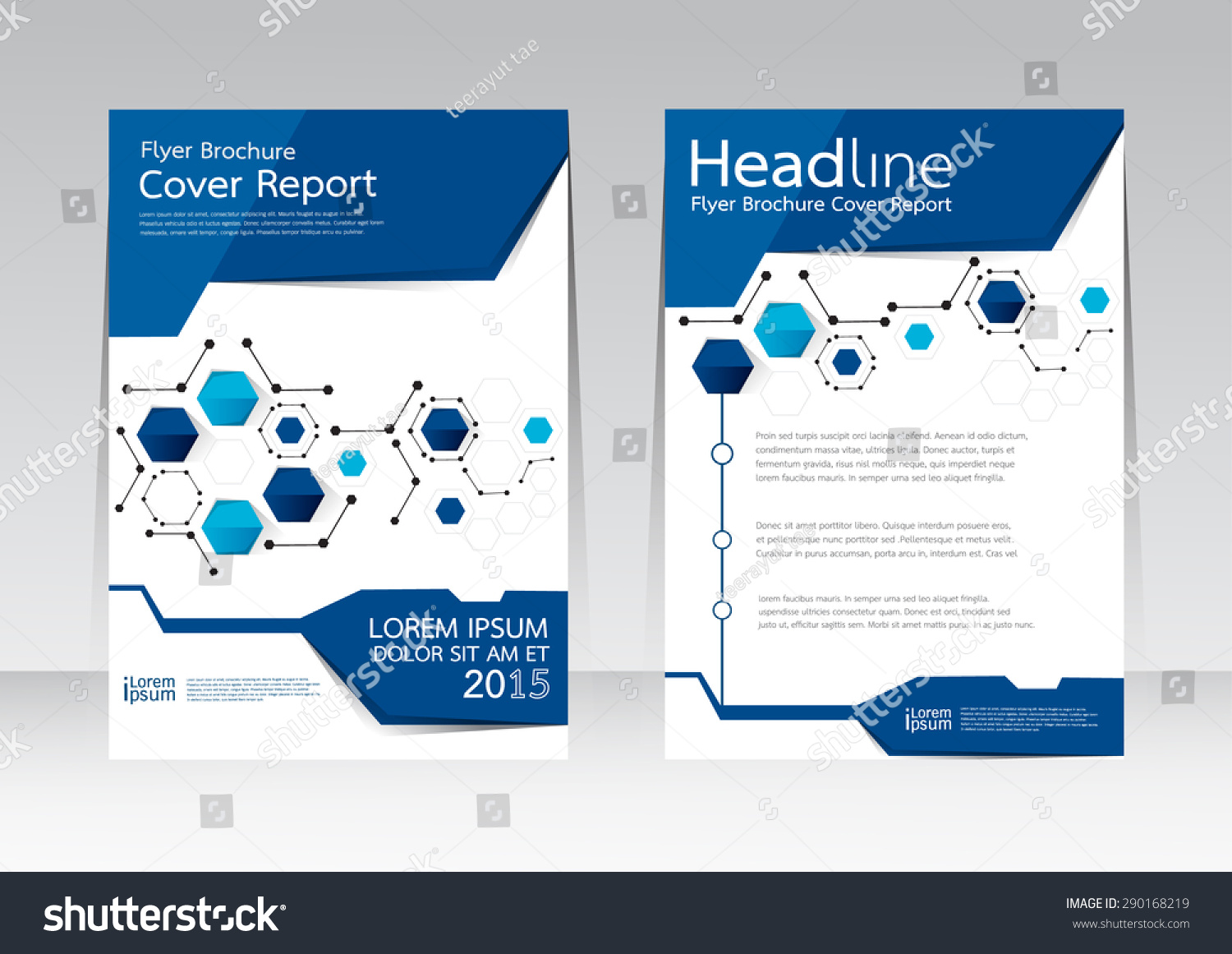 vector design cover report annual brochure stock vector 290168219 vector design for cover report annual brochure flyer poster in a4 size