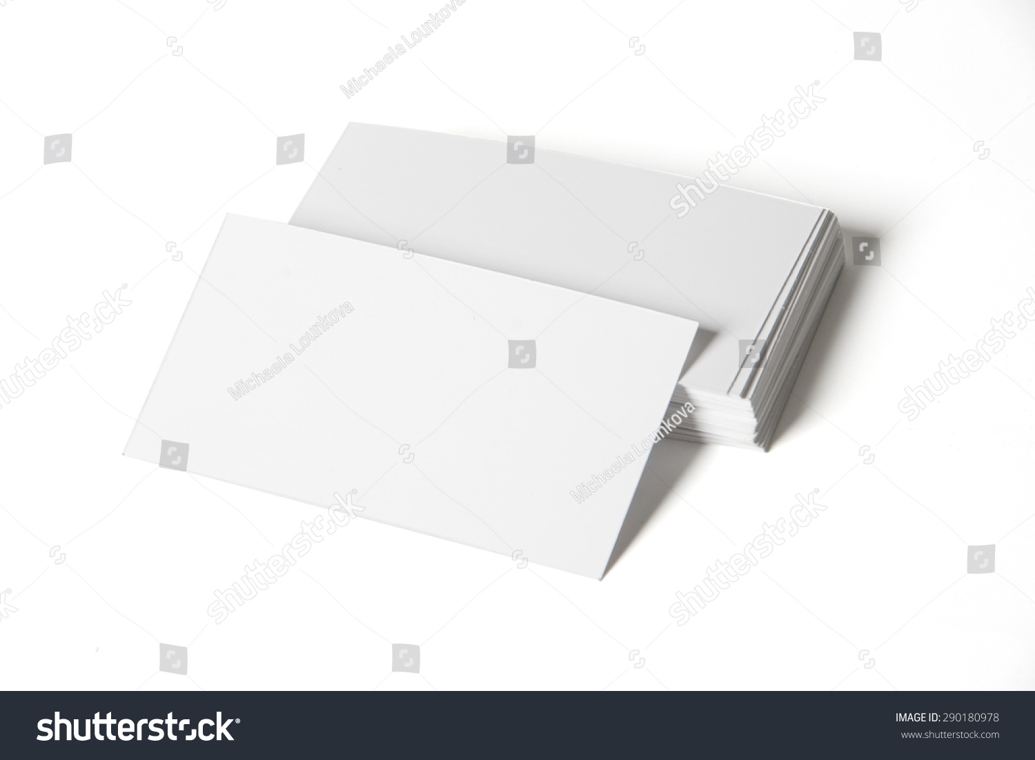 White Pile Business Cards On White Stock Photo 290180978 - Shutterstock