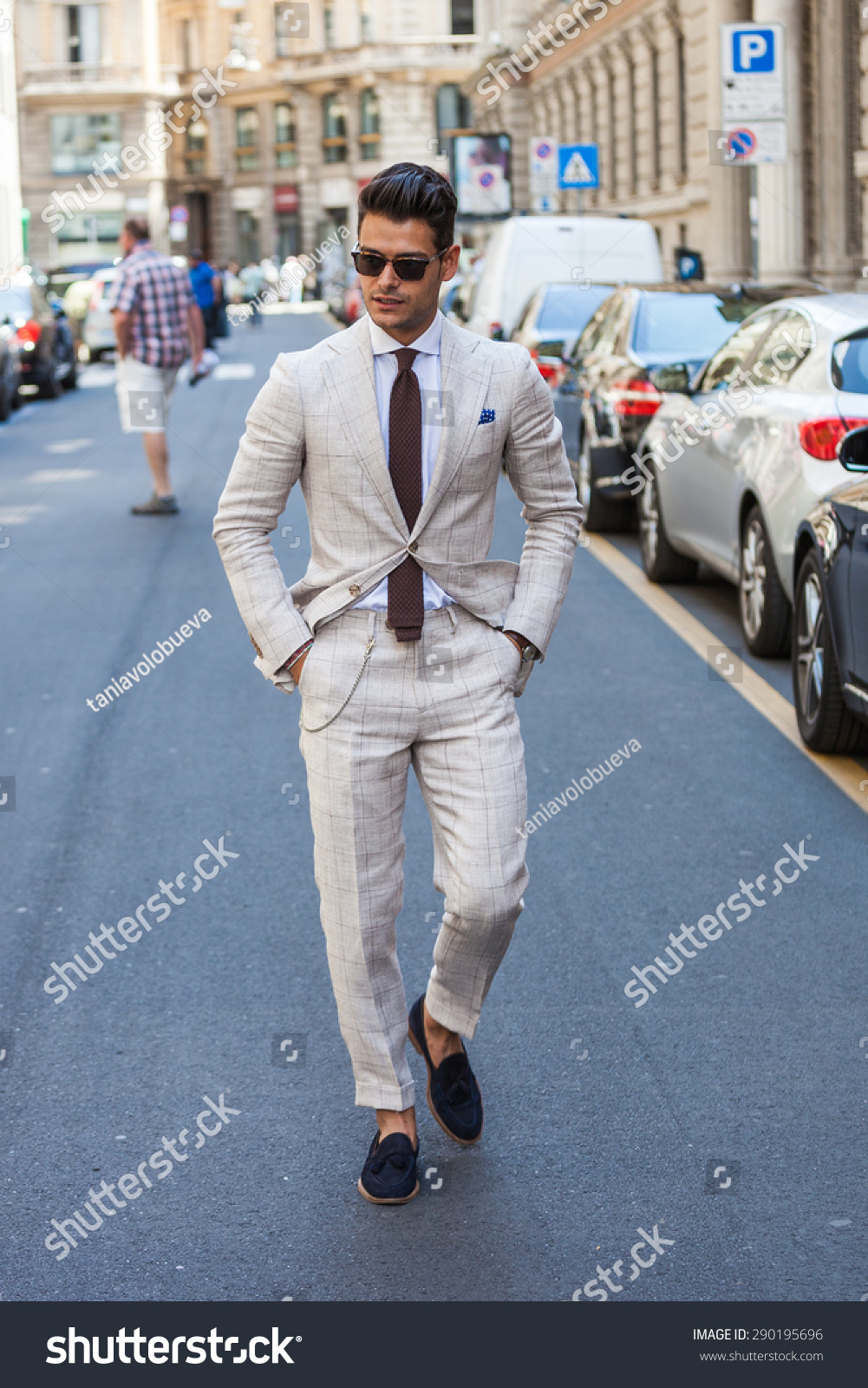 Milan Italy 21 June 2015 Street Stock Photo 290195696