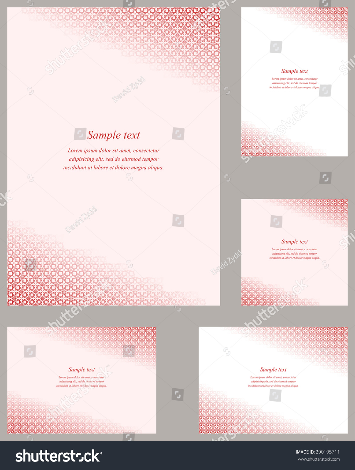 Red gothic pattern page corner design stock vector 290195711 red gothic pattern page corner design template for brochure invitation greeting card etc kristyandbryce Images