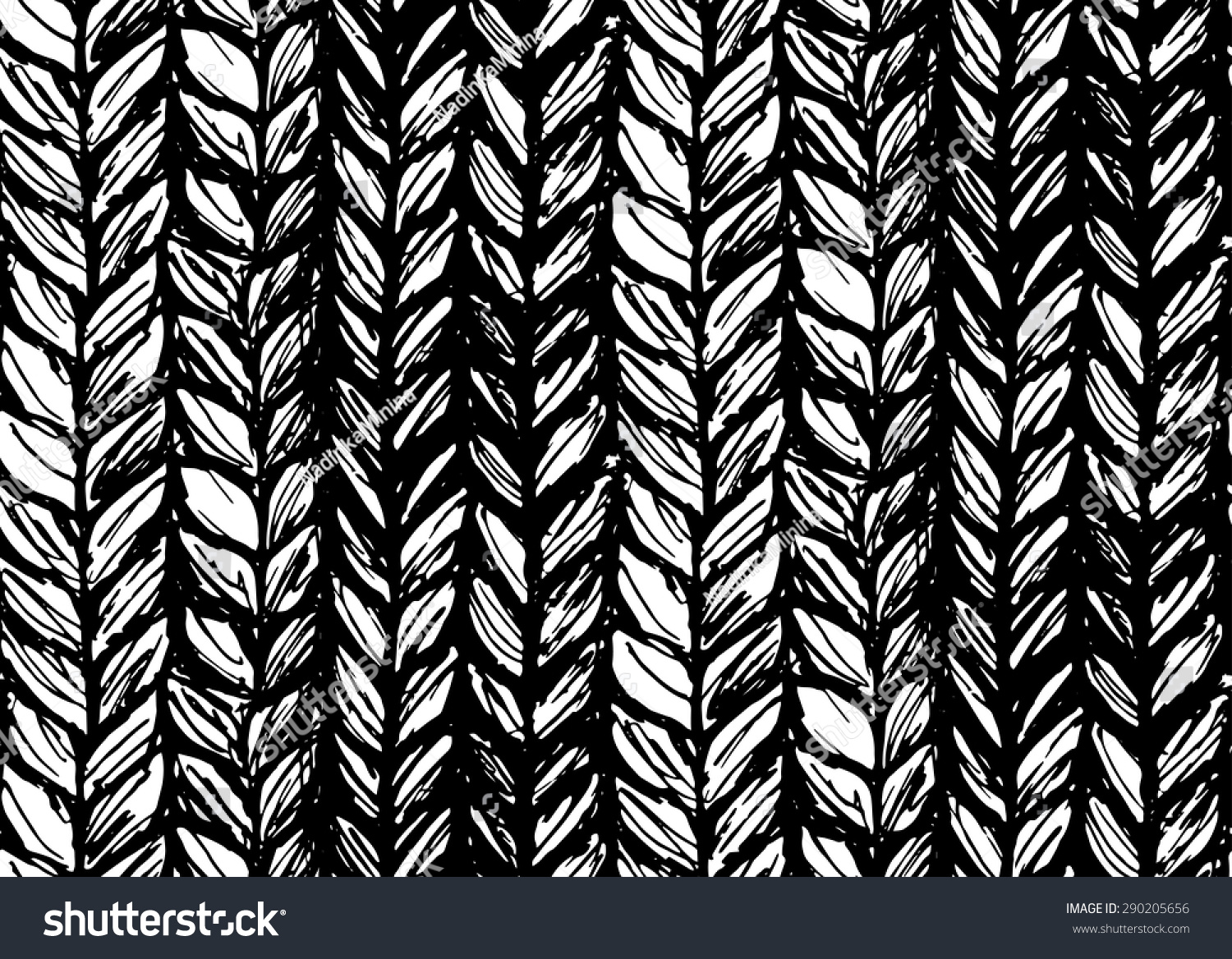 eded3ba6a Seamless Pattern Braids Endless Texture Stylized Stock Vector ...