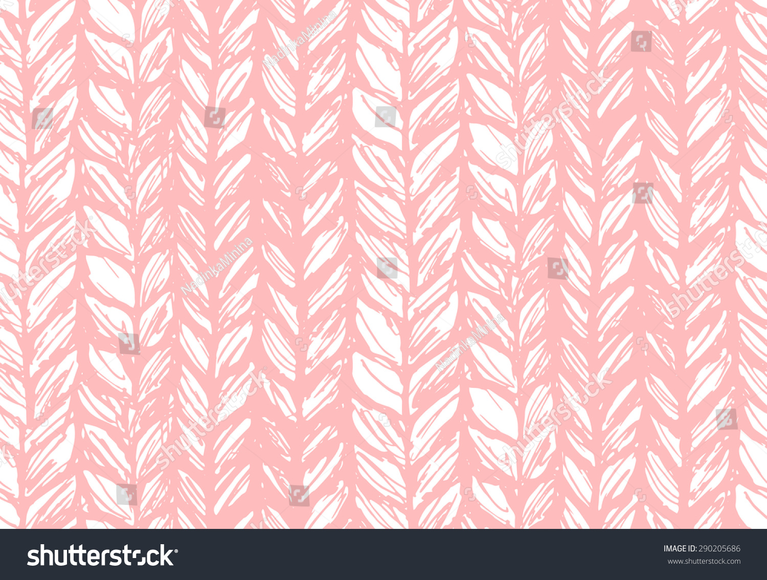 Seamless Pattern Knitting Braids Endless Texture Stock Vector ...