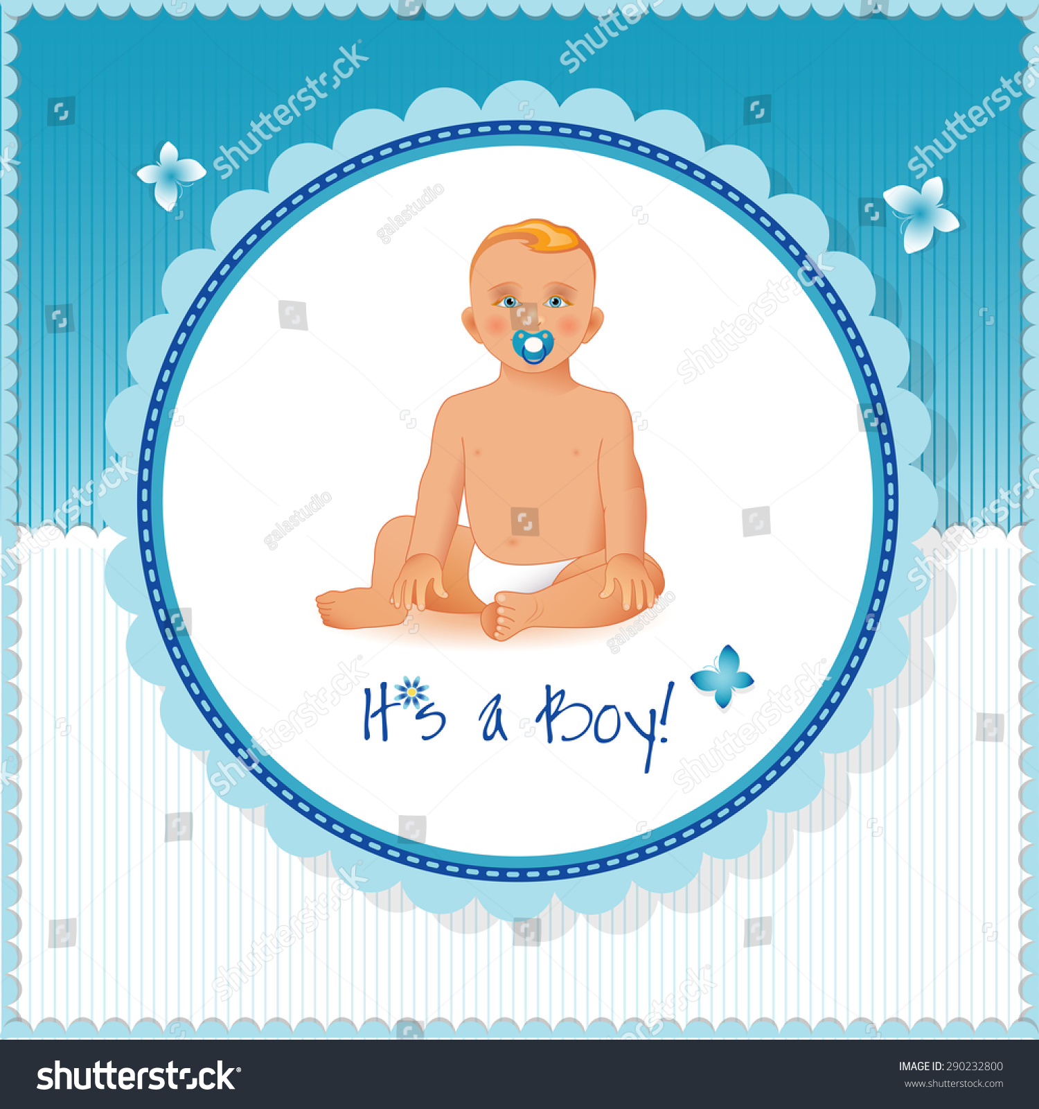 it's a boy card or background. sweet little boy sitting and smiling
