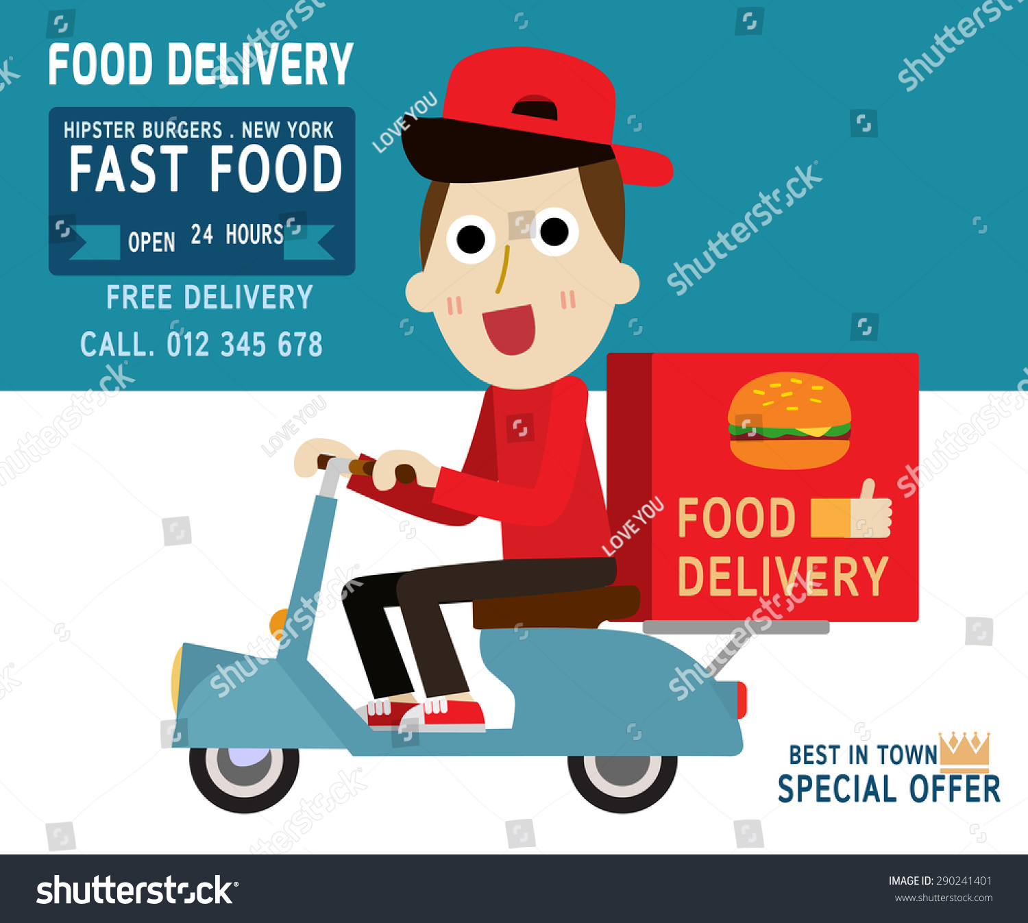 Fast food home delivery business model
