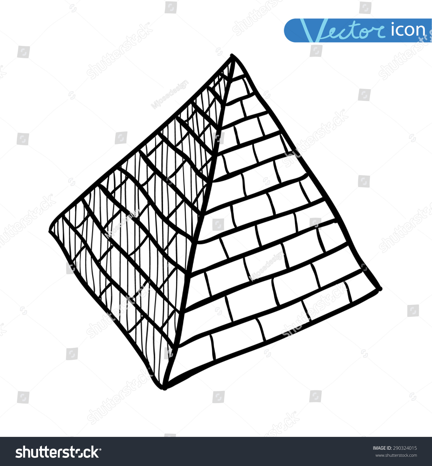 Doodle Pyramid Brick Vector Illustration Stock Vector 290324015 ...