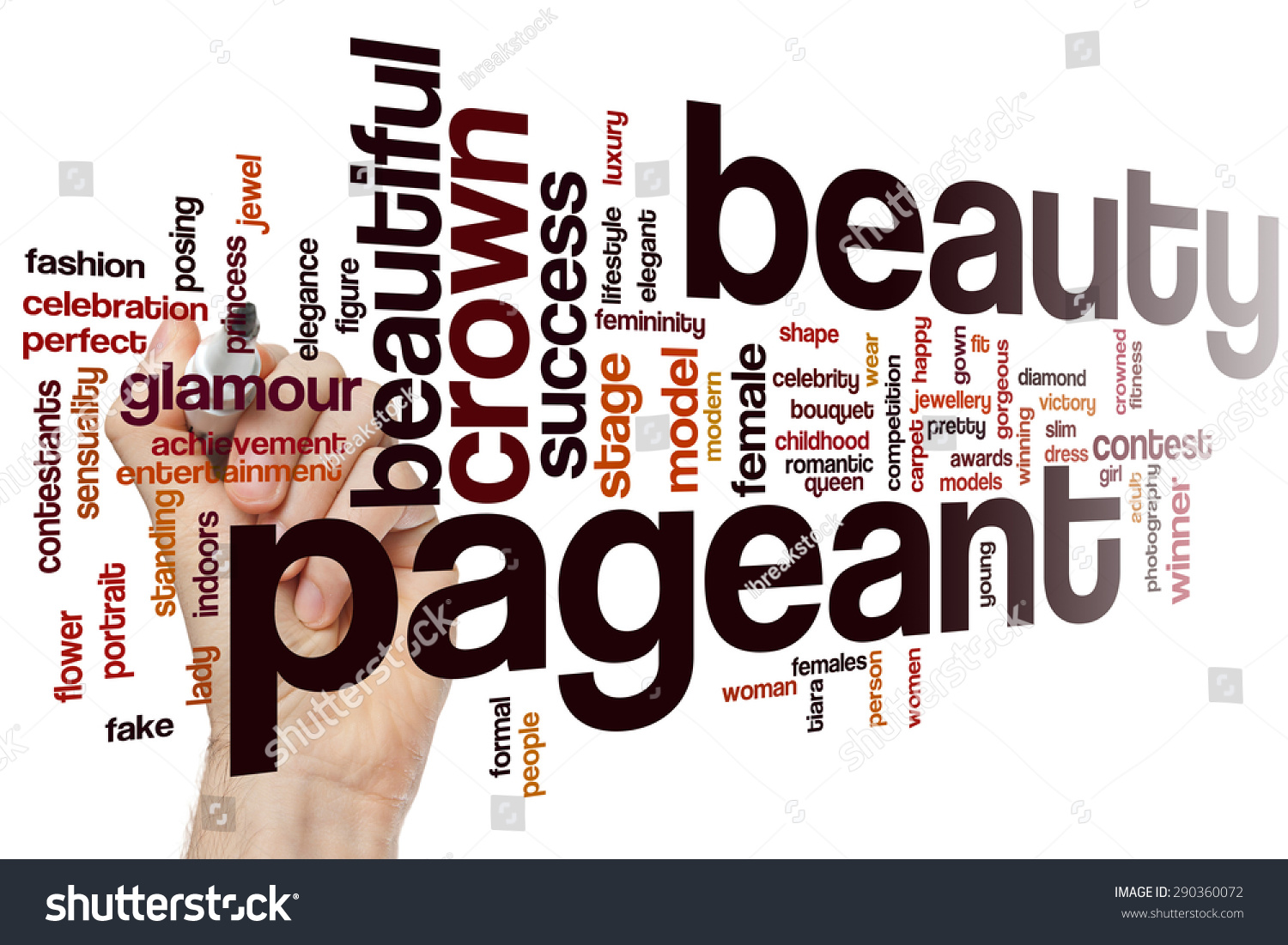 Beauty Pageant Word Cloud Concept Stock Photo 290360072 - Shutterstock