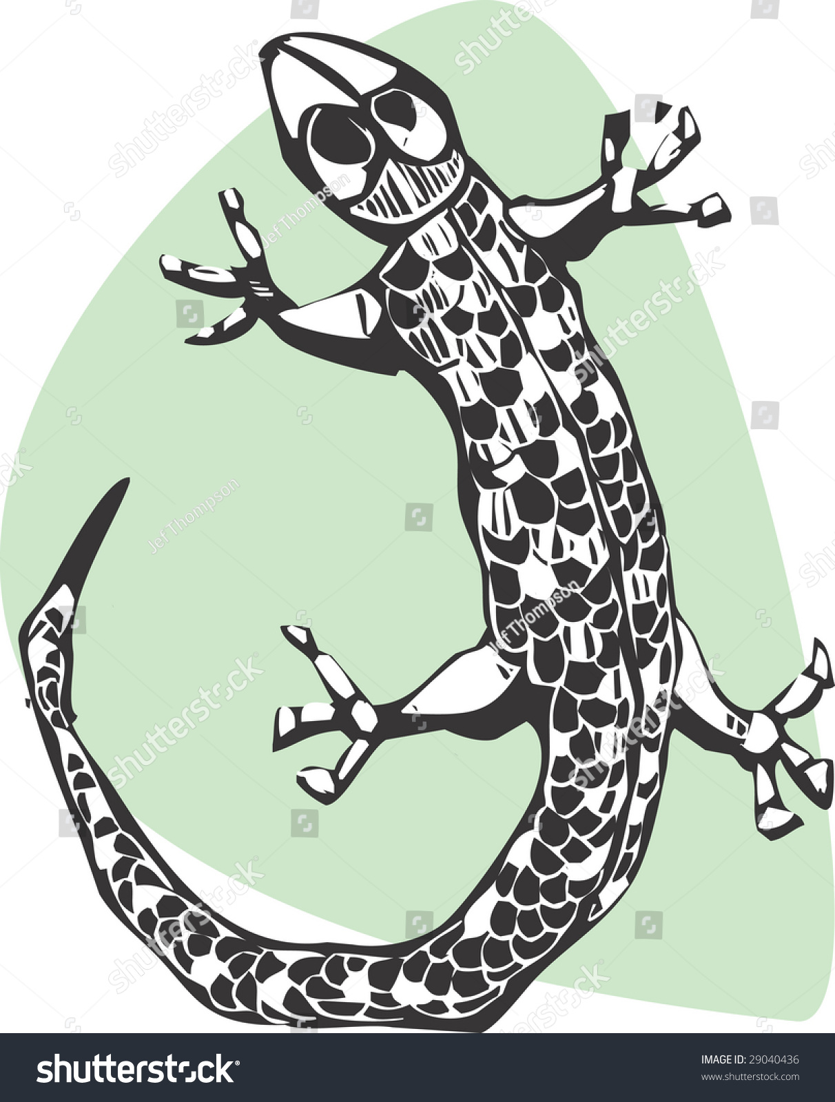 simple lizard done woodcut style stock vector 29040436 shutterstock