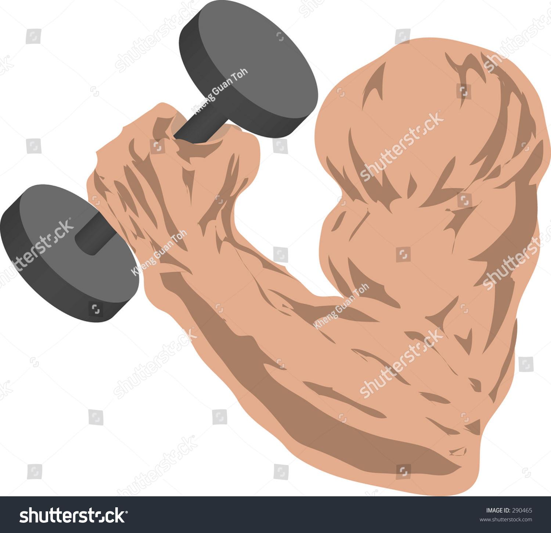 Muscular Arm Grasping Barbell Stock Illustration 290465 Shutterstock