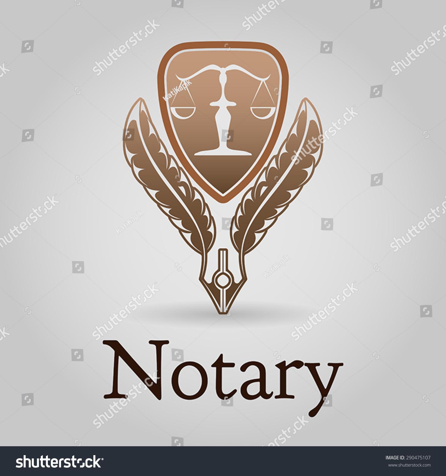 Notary Symbol Vector Logo Design Template Vector 290475107 – Notary Template