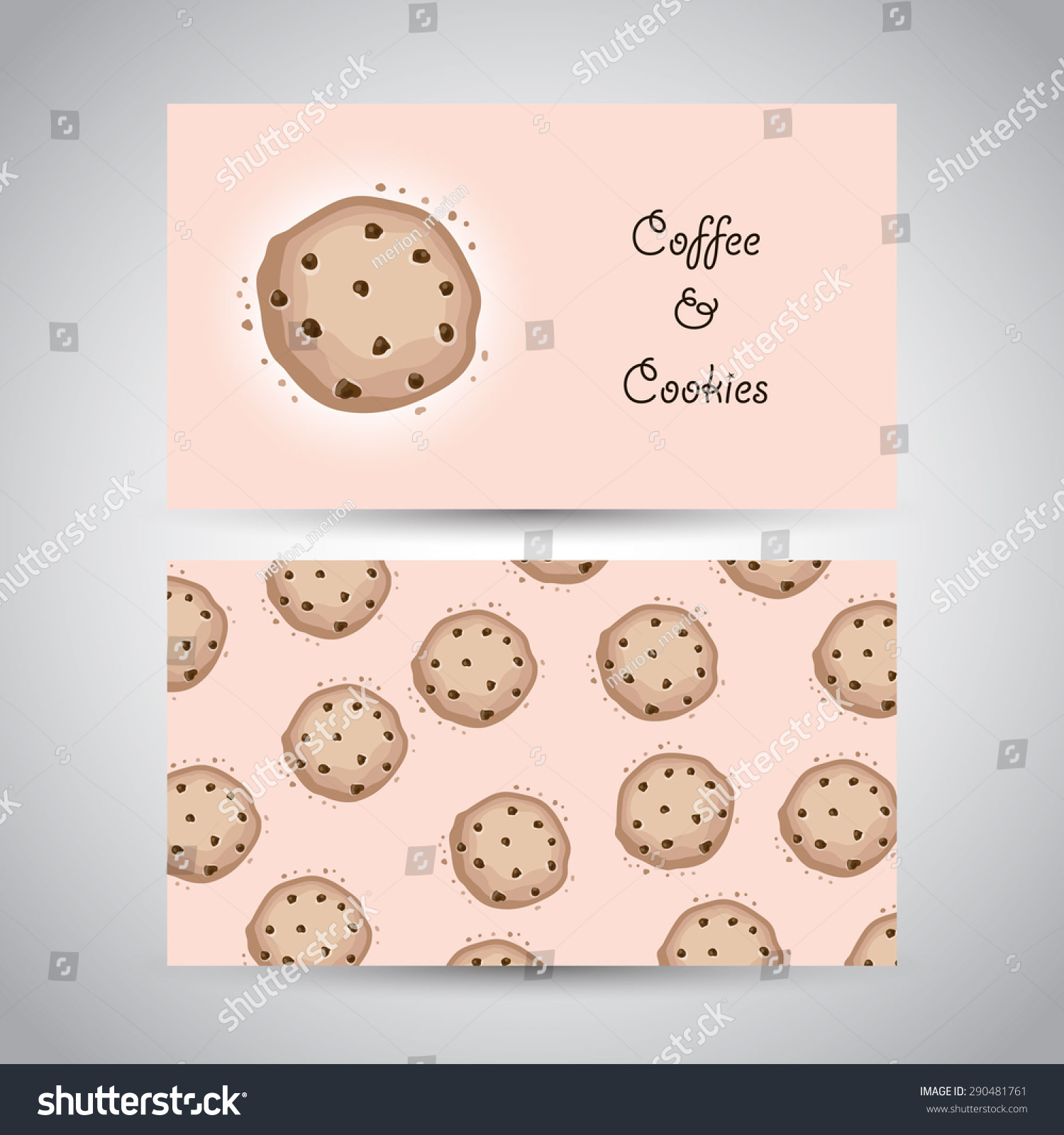Two business cards cookies text coffee stock vector royalty free two business cards with cookies and text coffee and cookies vector illustration colourmoves