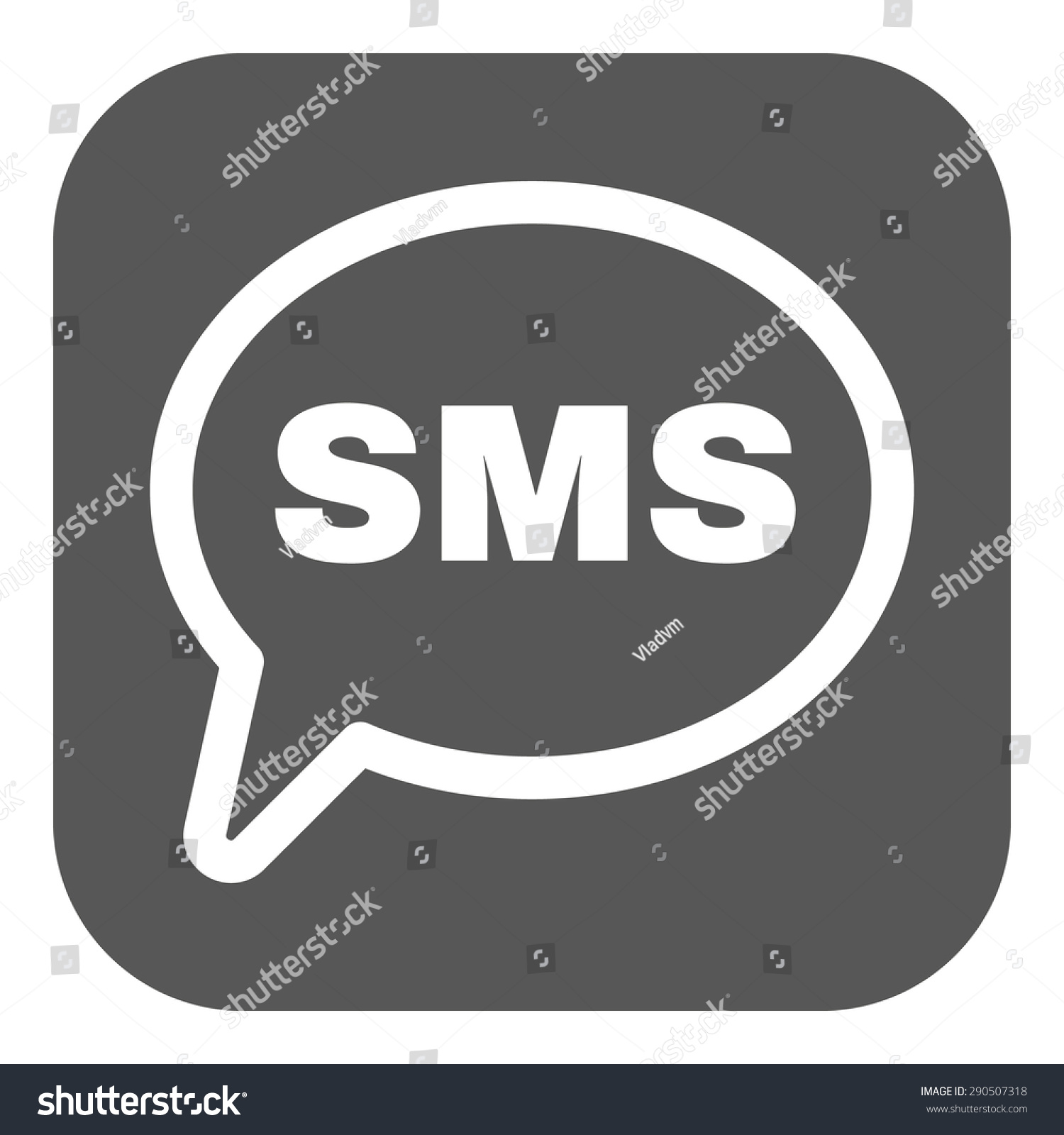 Sms icon text message symbol flat stock vector 290507318 the sms icon text message symbol flat vector illustration button biocorpaavc Images