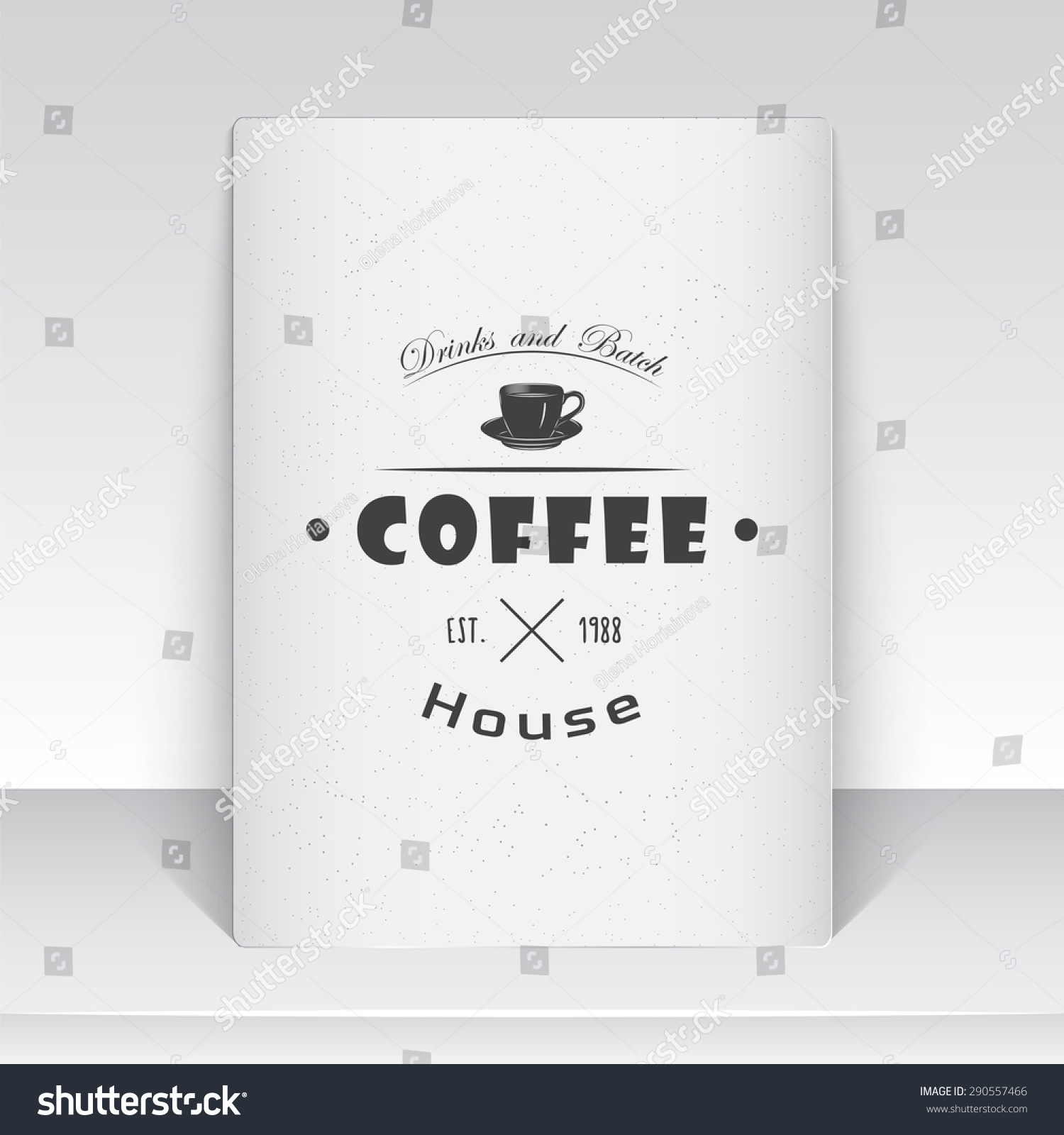 Coffee Shop Cafe Food Service Old Stock Vector 290557466 - Shutterstock