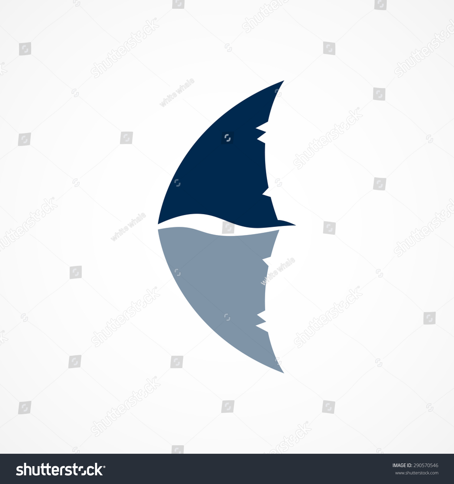 shark fin white background - photo #3