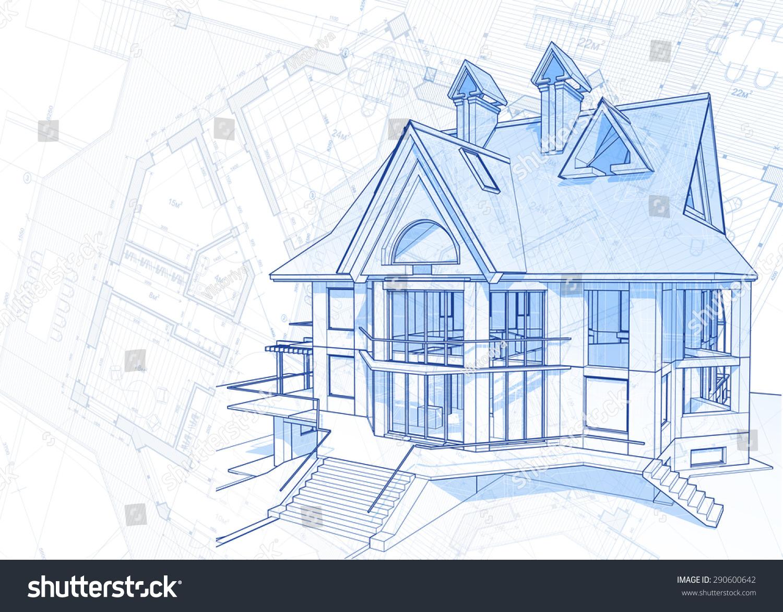 Royalty free architecture design blueprint house 290600642 architecture design blueprint house plans illustration 290600642 malvernweather Choice Image