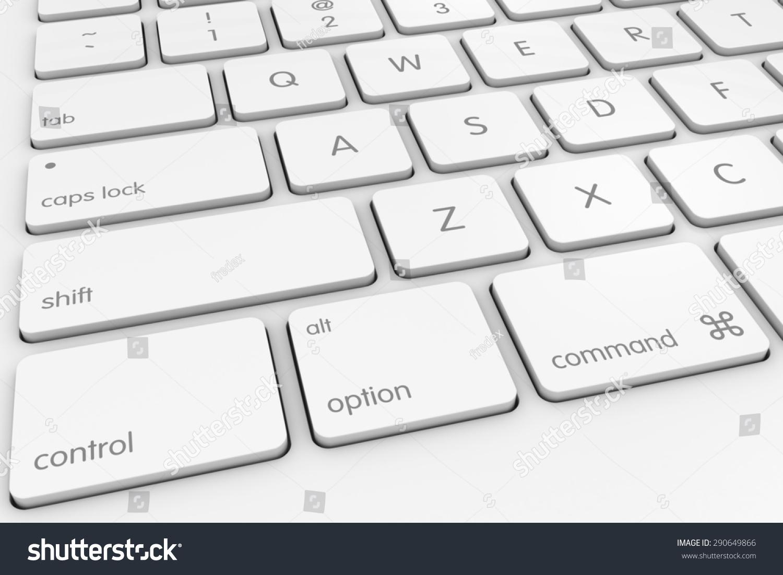 White Computer Keyboard Background Stock Illustration 290649866