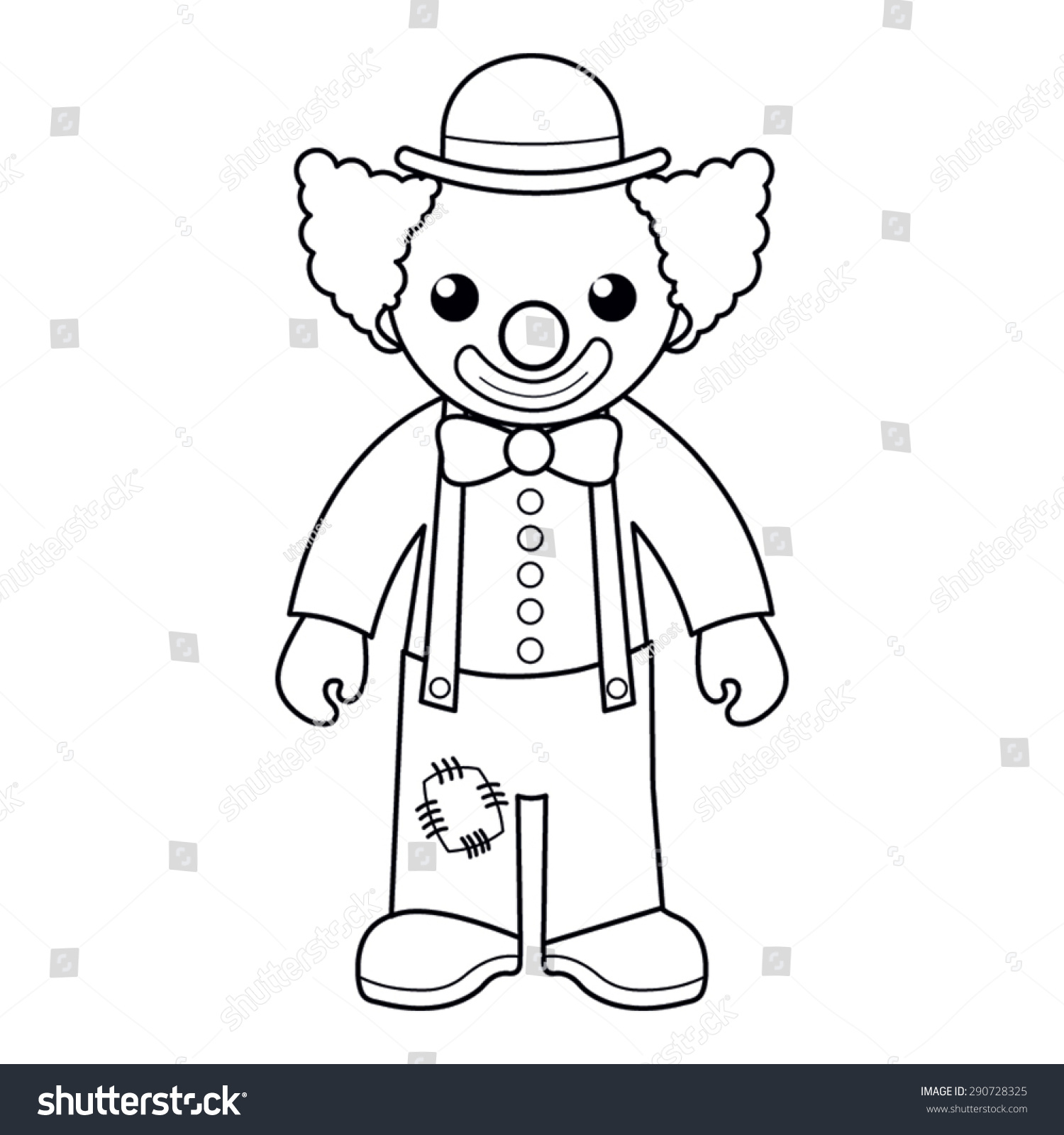 Coloring Page Vector Illustration Black White Stock Photo (Photo ...
