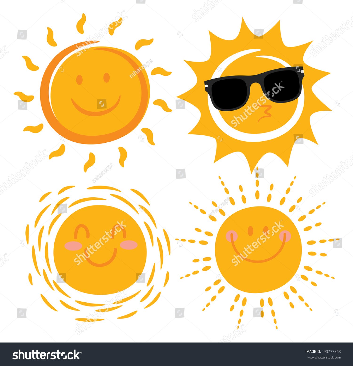 Smiling sun images - Various Smiling Sun Cartoon