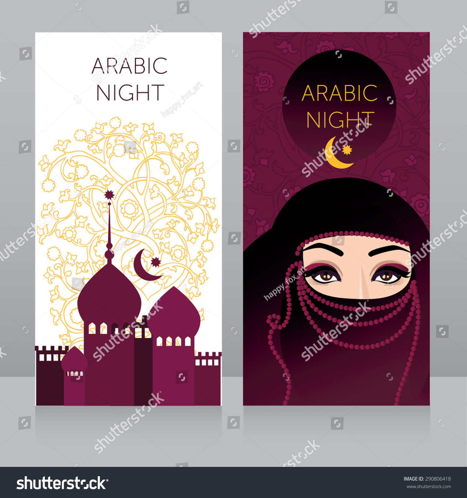 Beautiful invitation template arabian night partytemplate stock beautiful invitation template for arabian night partytemplate for muslim holiday card touristic banner stopboris Choice Image