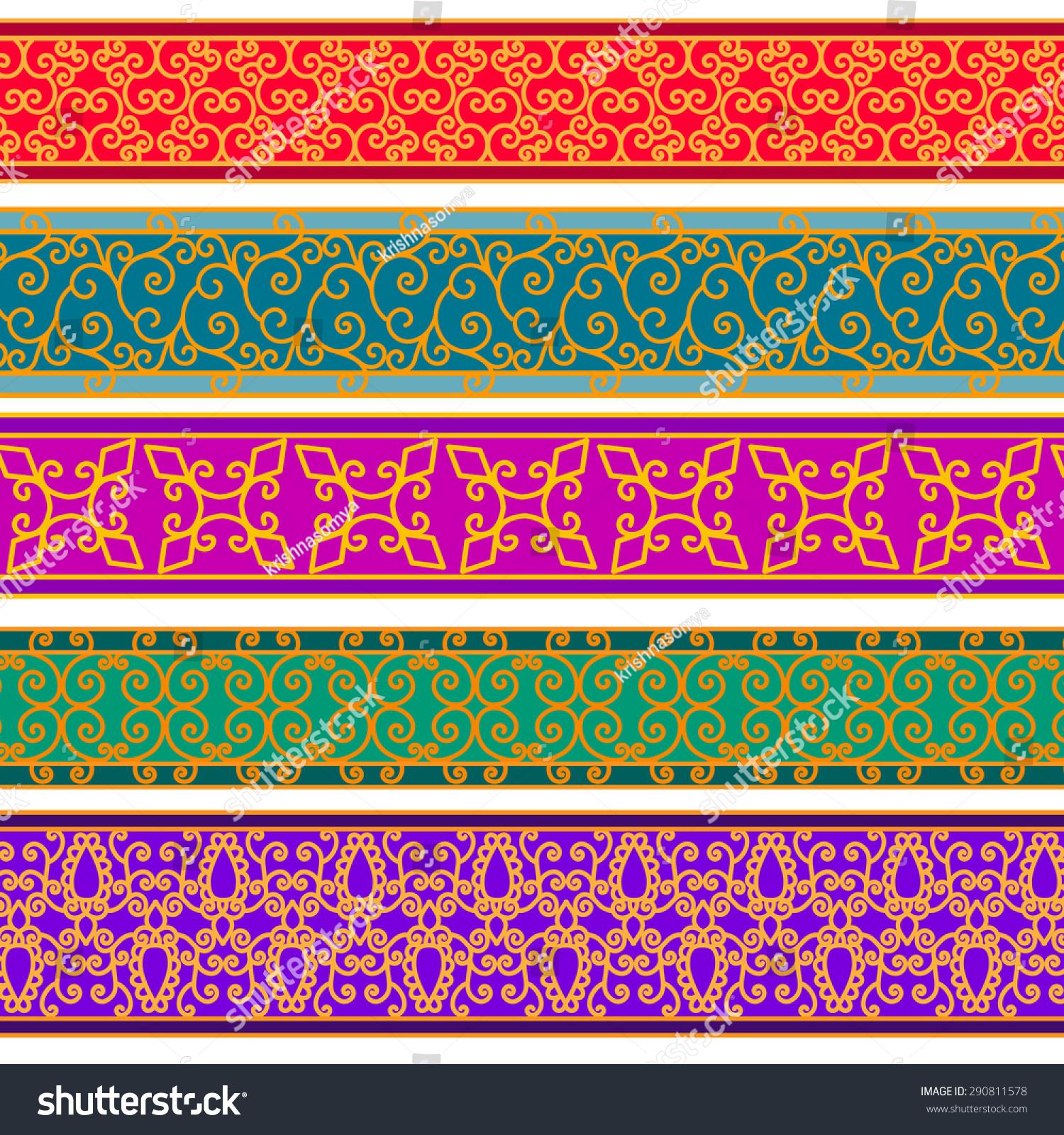 henna inspired banners borders - photo #8