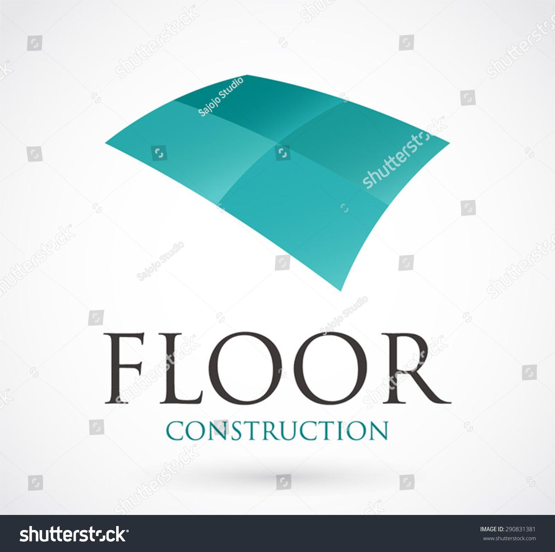 Flooring Contractor Icon : Floor construction logo element design symbol stock vector