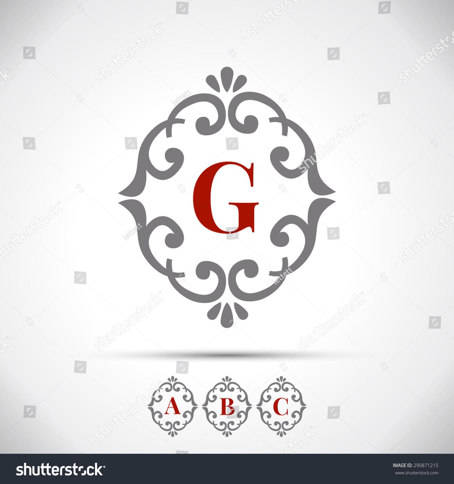 vintage letter logo frame