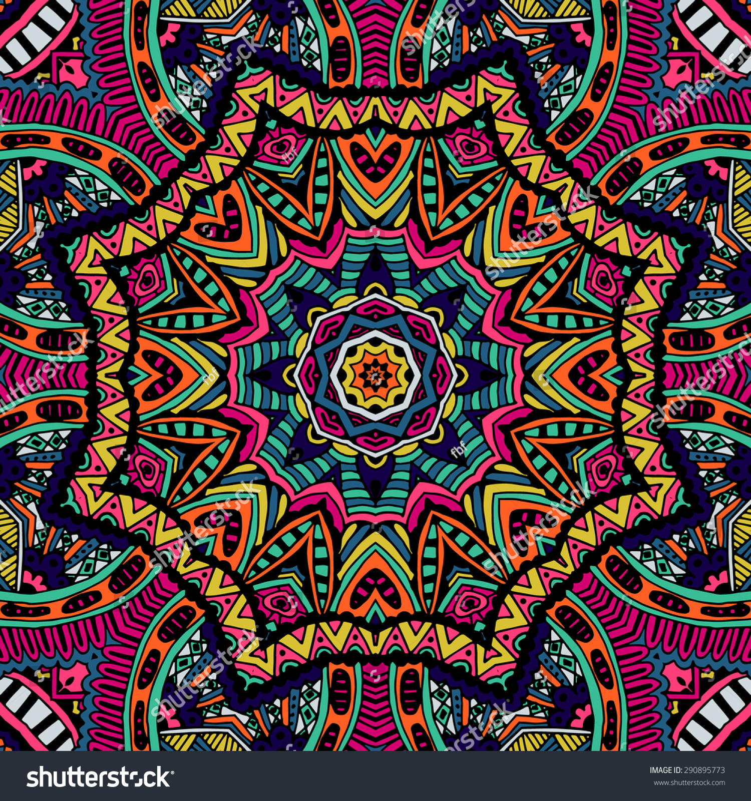 Abstract Tribal Vintage Ethnic Seamless Pattern Ornamental ...