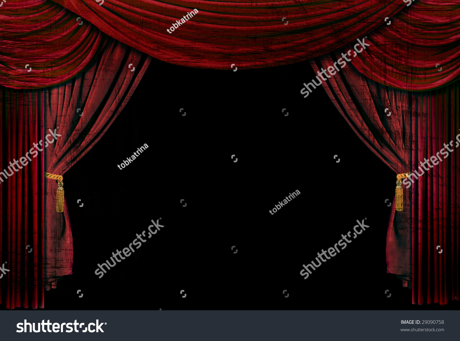 Stock photo dramatic red old fashioned elegant theater stage stock - Old Fashioned Elegant Theater Stage With Velvet Curtains