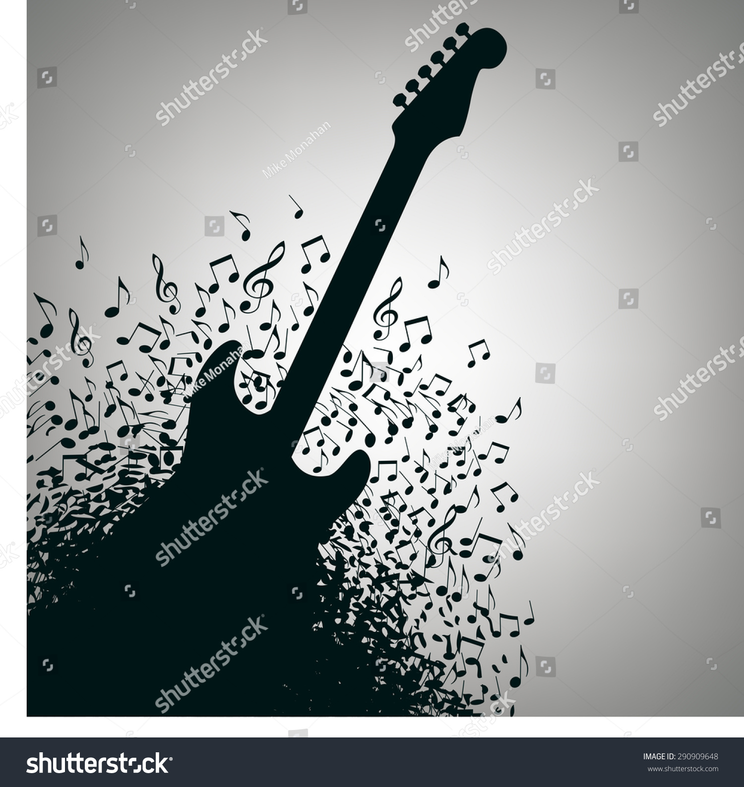 Guitar Music Concert Poster Layout Template Stock Vector 290909648 ...