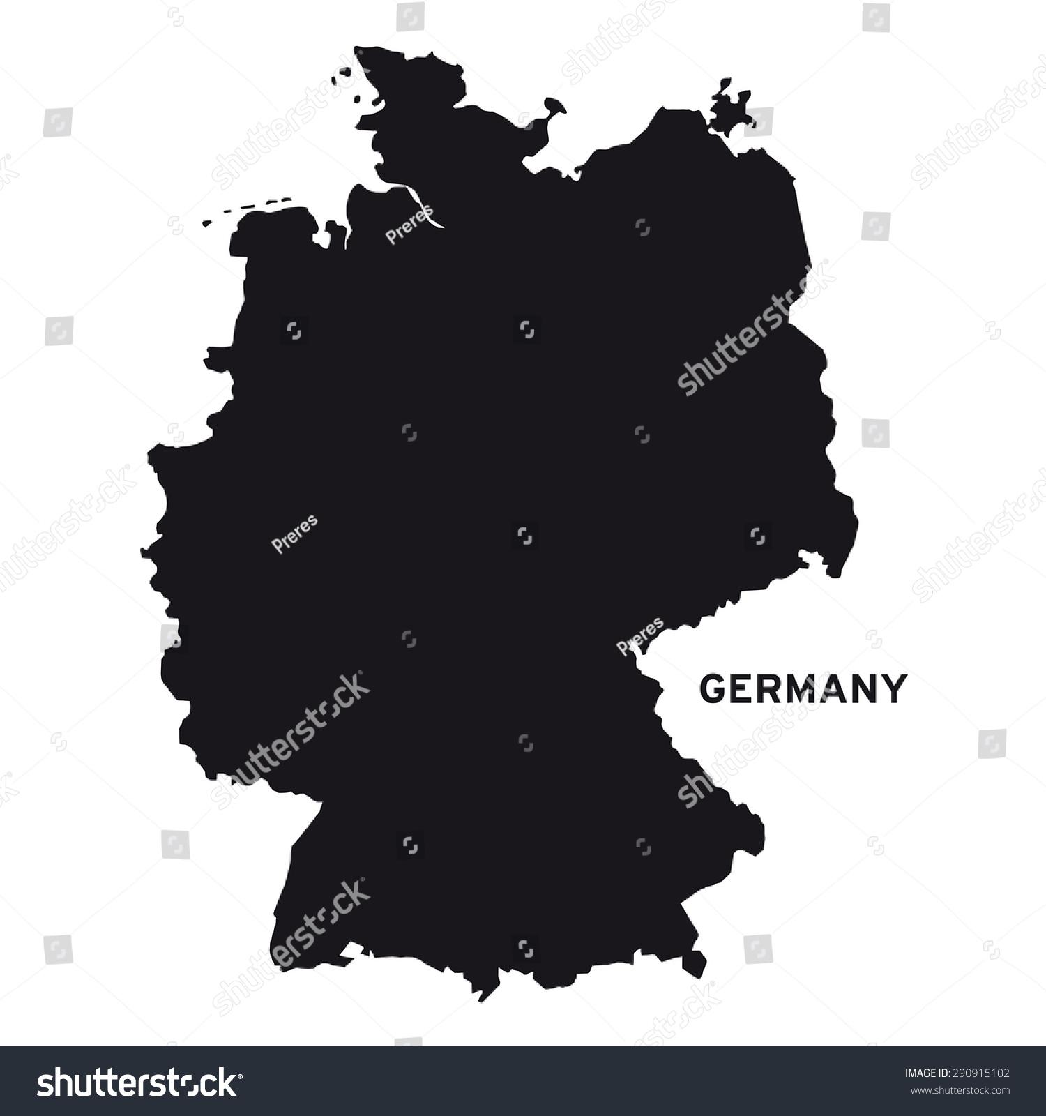 Germany Map Vector Stock Vector Shutterstock - Germany map vector