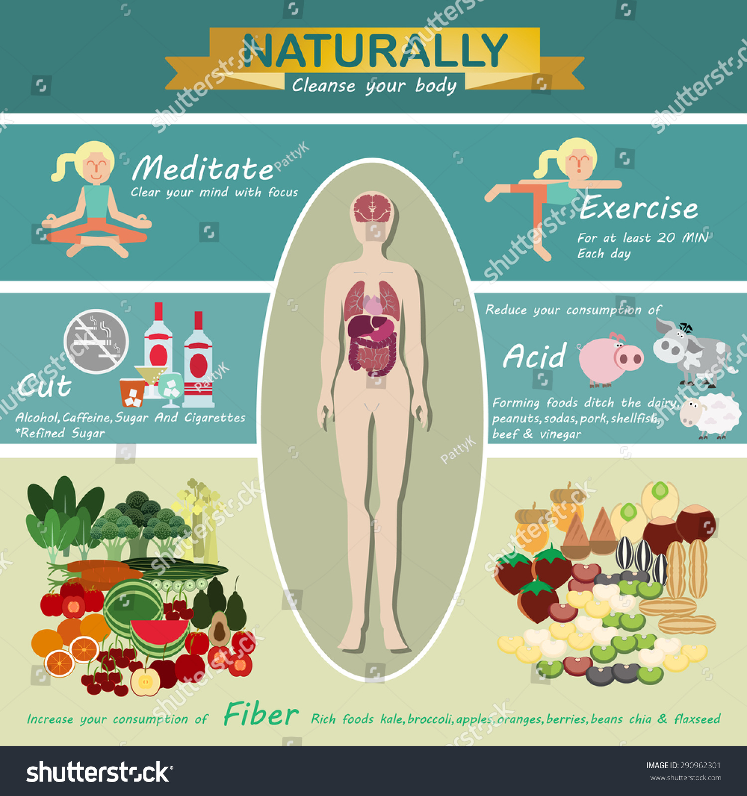 5 colors phytonutrients stock vector 290962301 shutterstock 5 colors of phytonutrients nvjuhfo Gallery