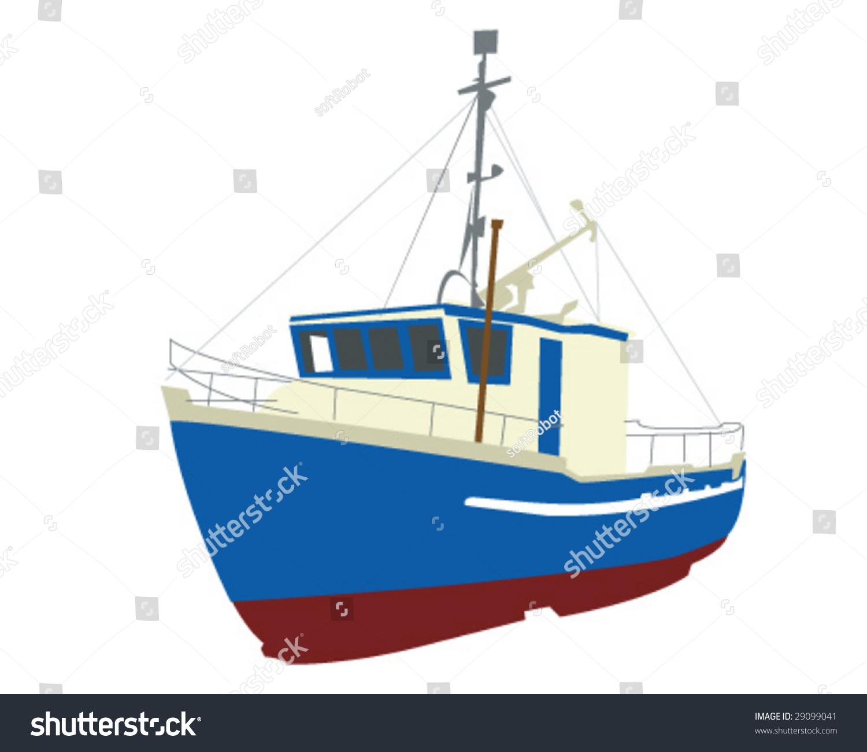 Fishing Boat Vector Illustration Stock Vector 29099041