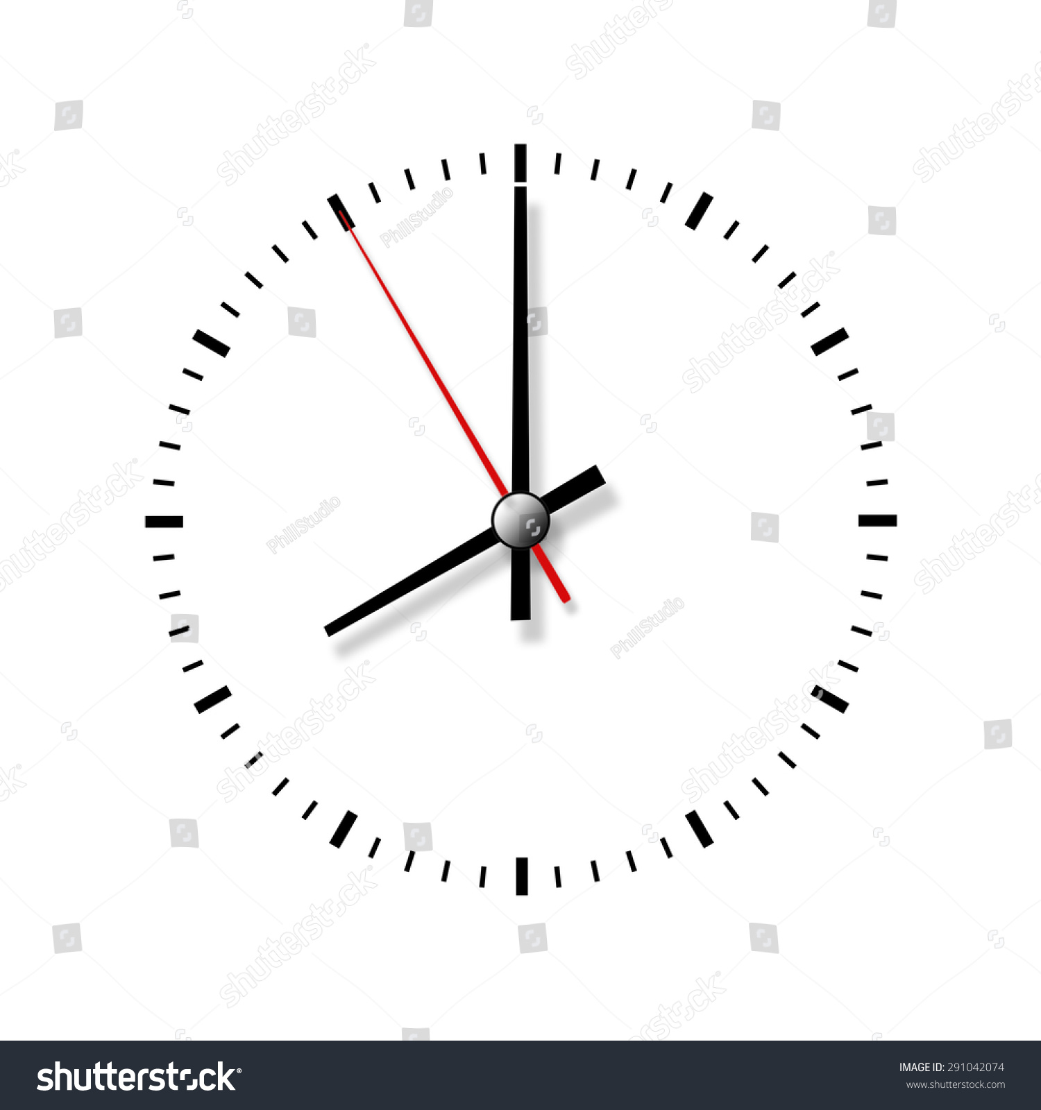 Clock Without Numbers Isolated On White Background Closeup Ez Canvas