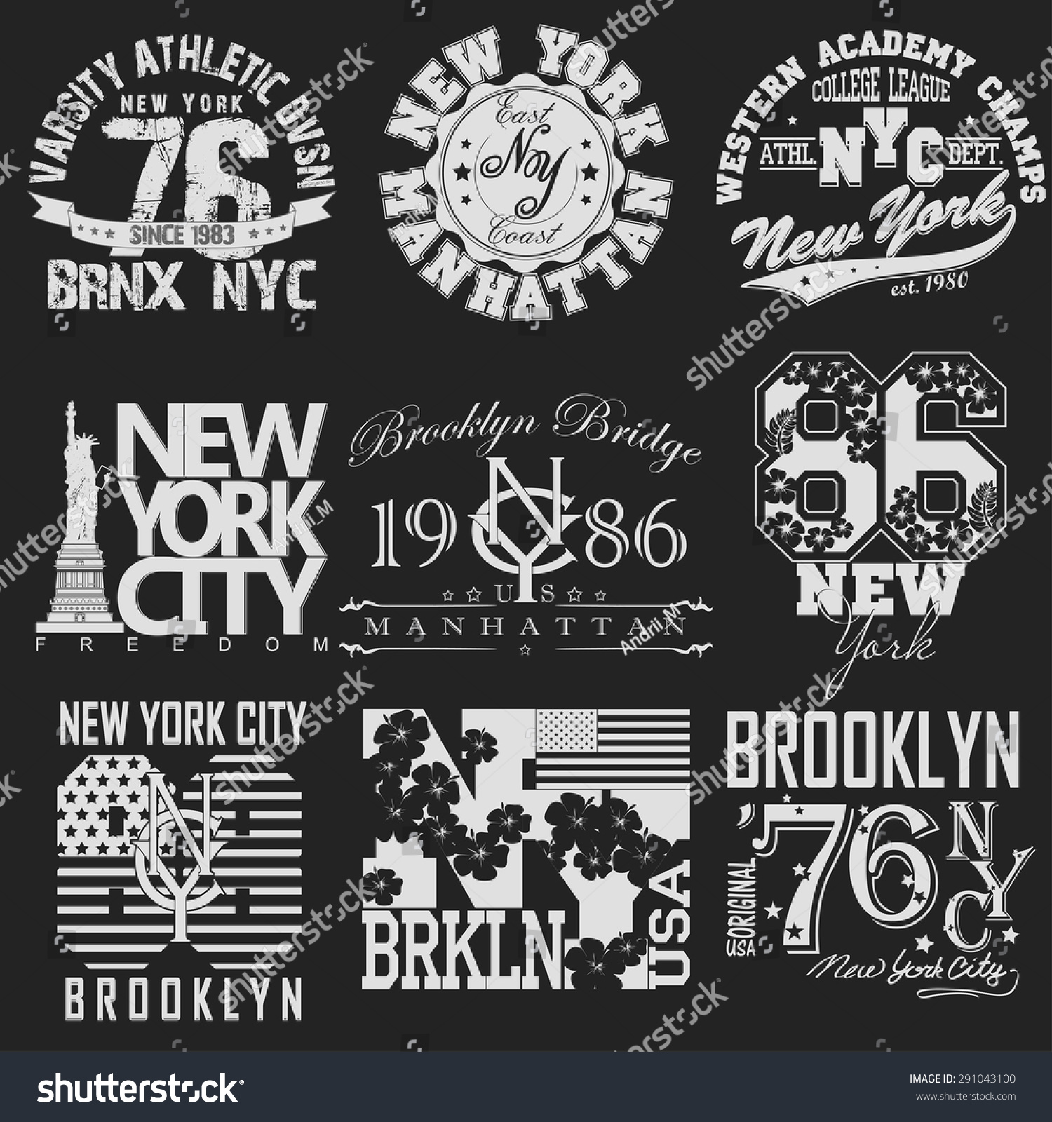 Shirt design typography
