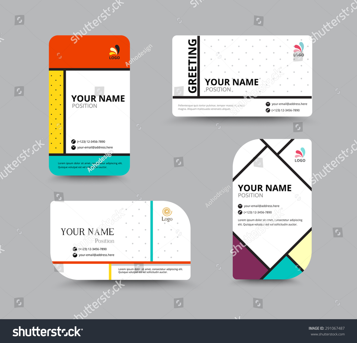 Business card template name card design stock vector 291067487 business card template name card design for business include sample text layout vector magicingreecefo Choice Image