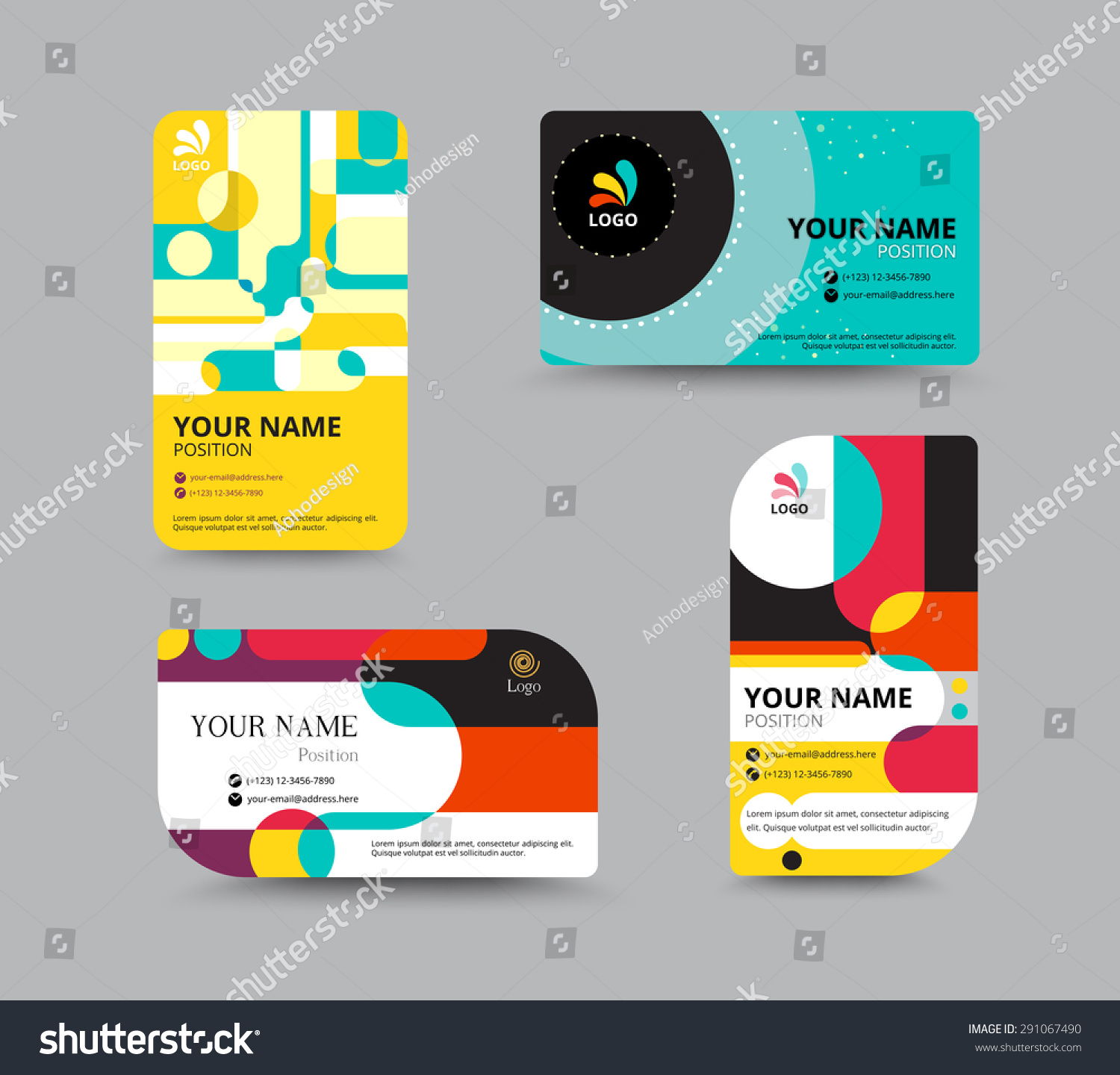Business Card Template Name Card Design Stock Vector 291067490 ...