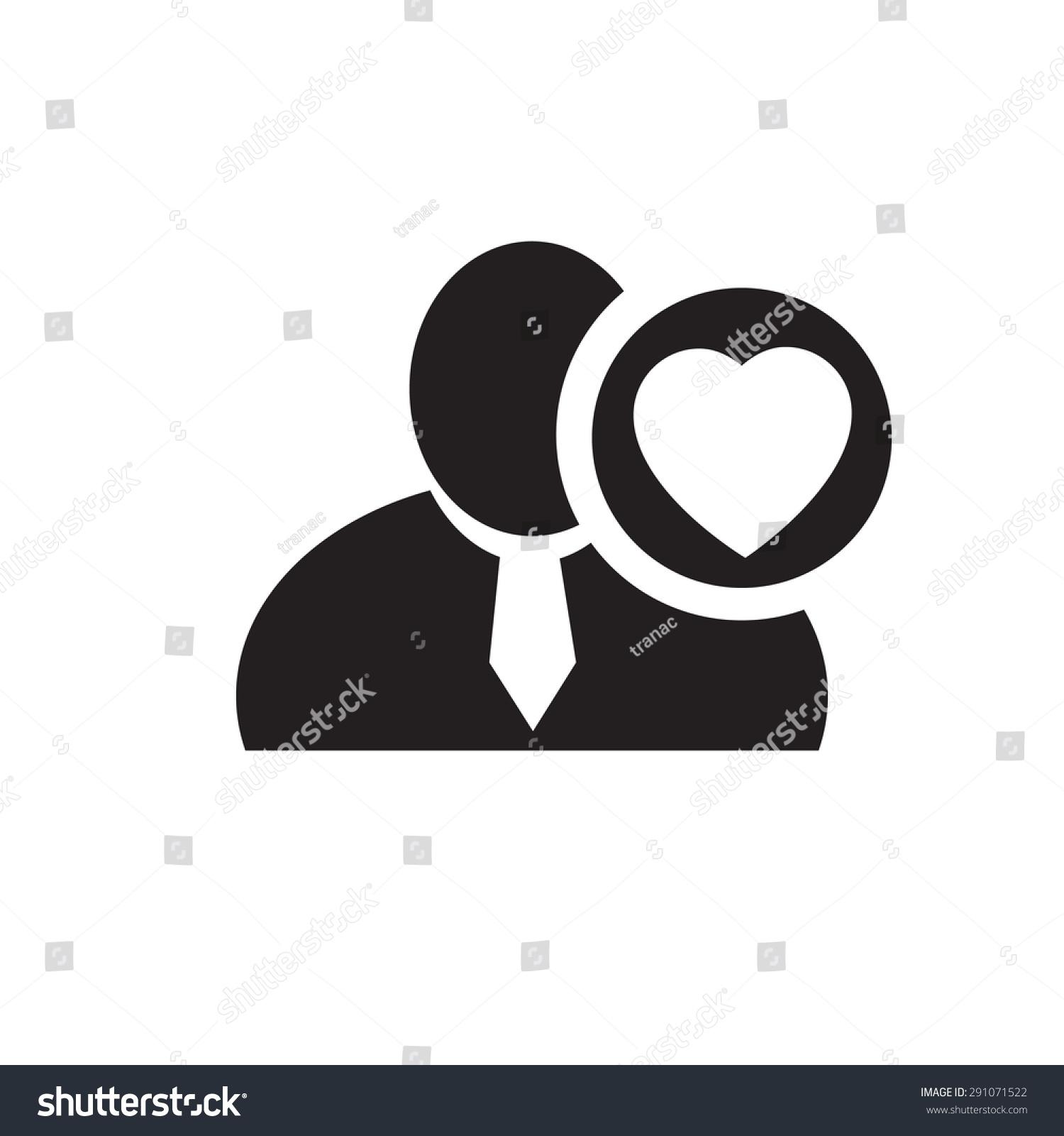 Black man silhouette icon heart love stock vector 291071522 black man silhouette icon with heart love symbol in an information circle flat design icon buycottarizona