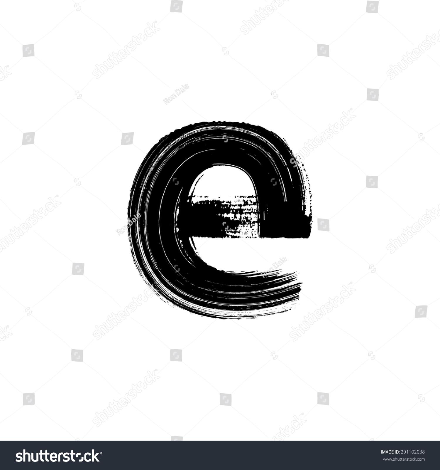 vector hand paint letter e hand stock vector 291102038 shutterstock