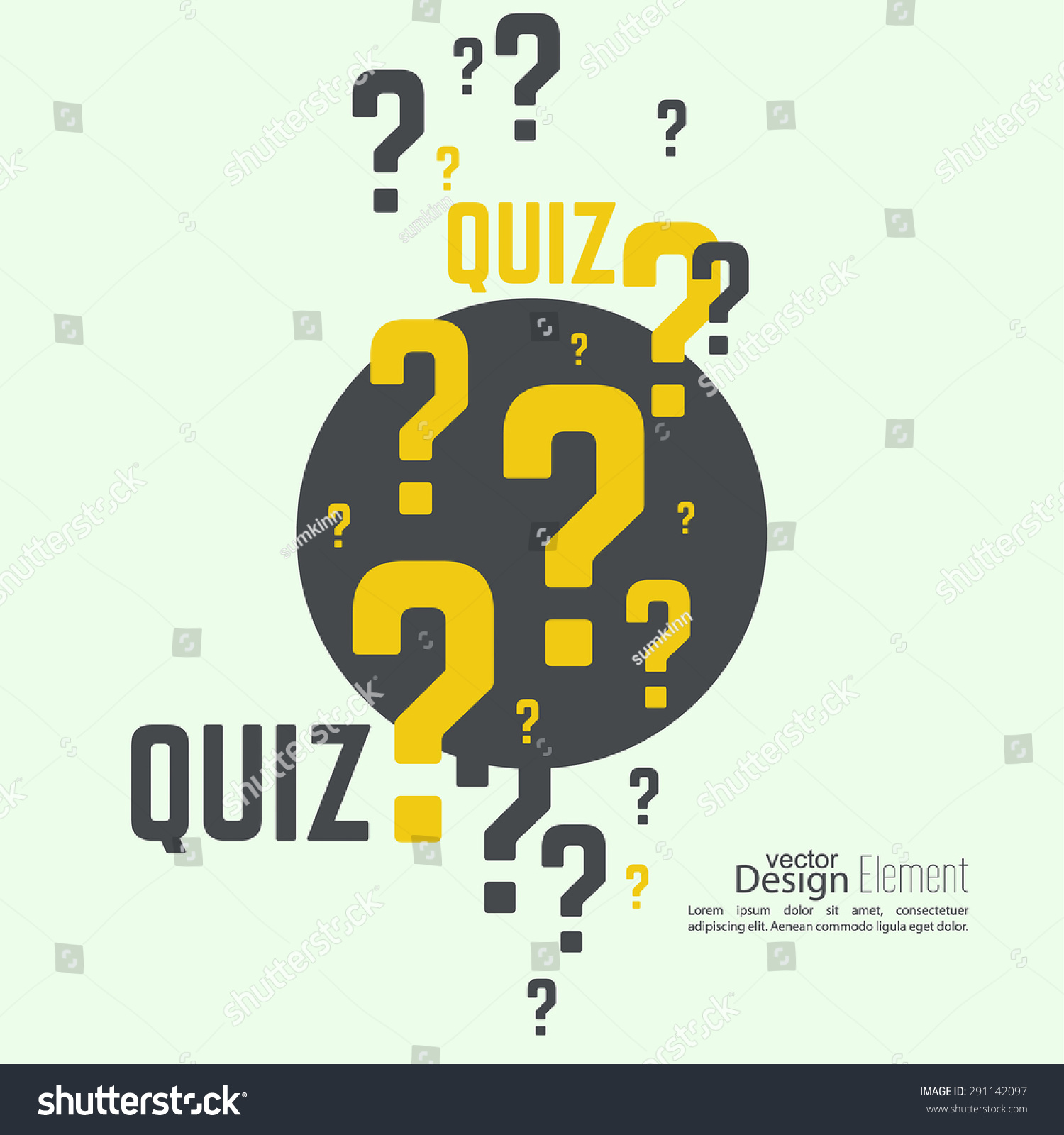 Poster design for quiz - Quiz Background The Concept Is The Question With The Answer Vector