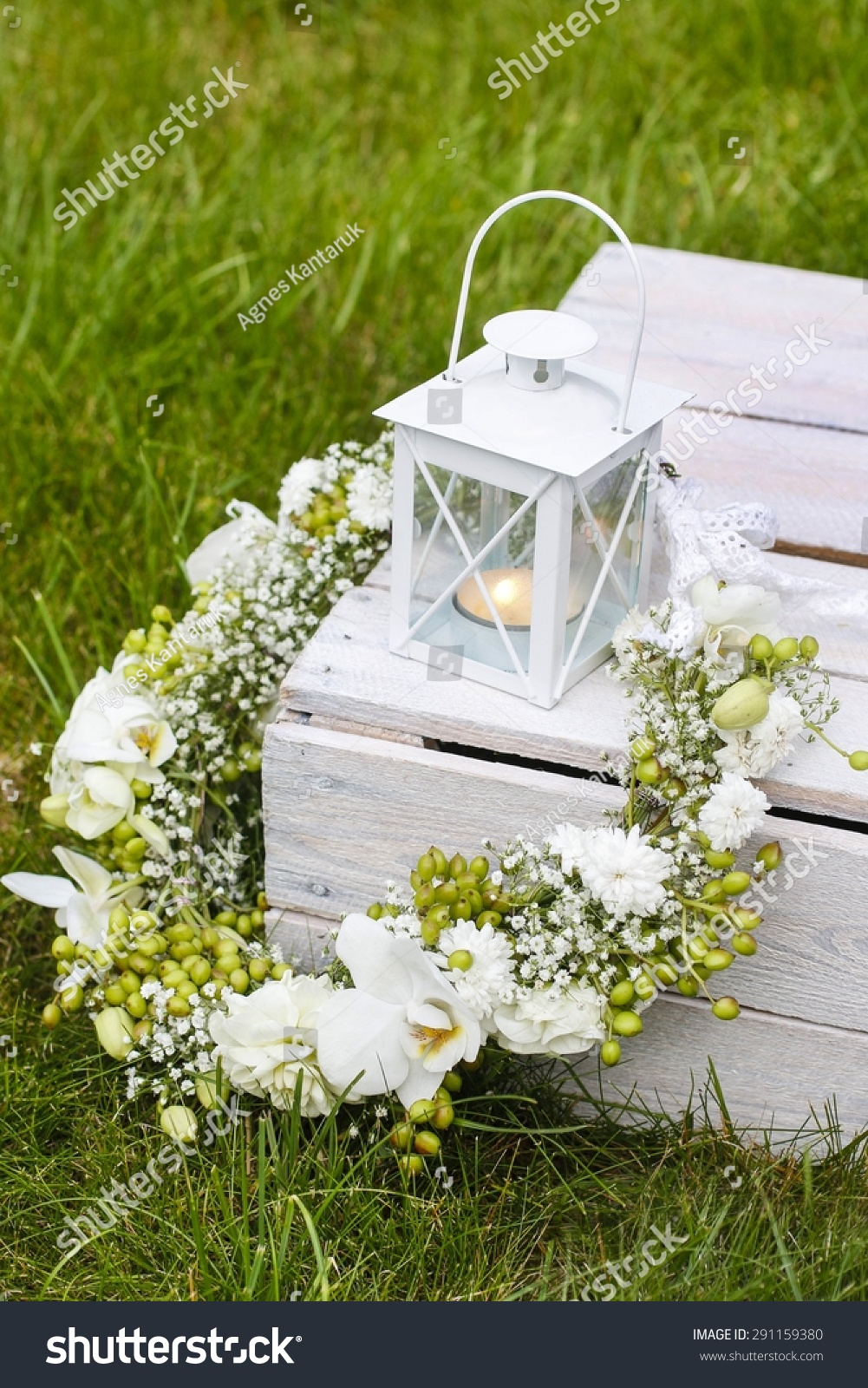 Garden Party Decorations Flower Wreath Orchids Stock Photo 291159380 ...