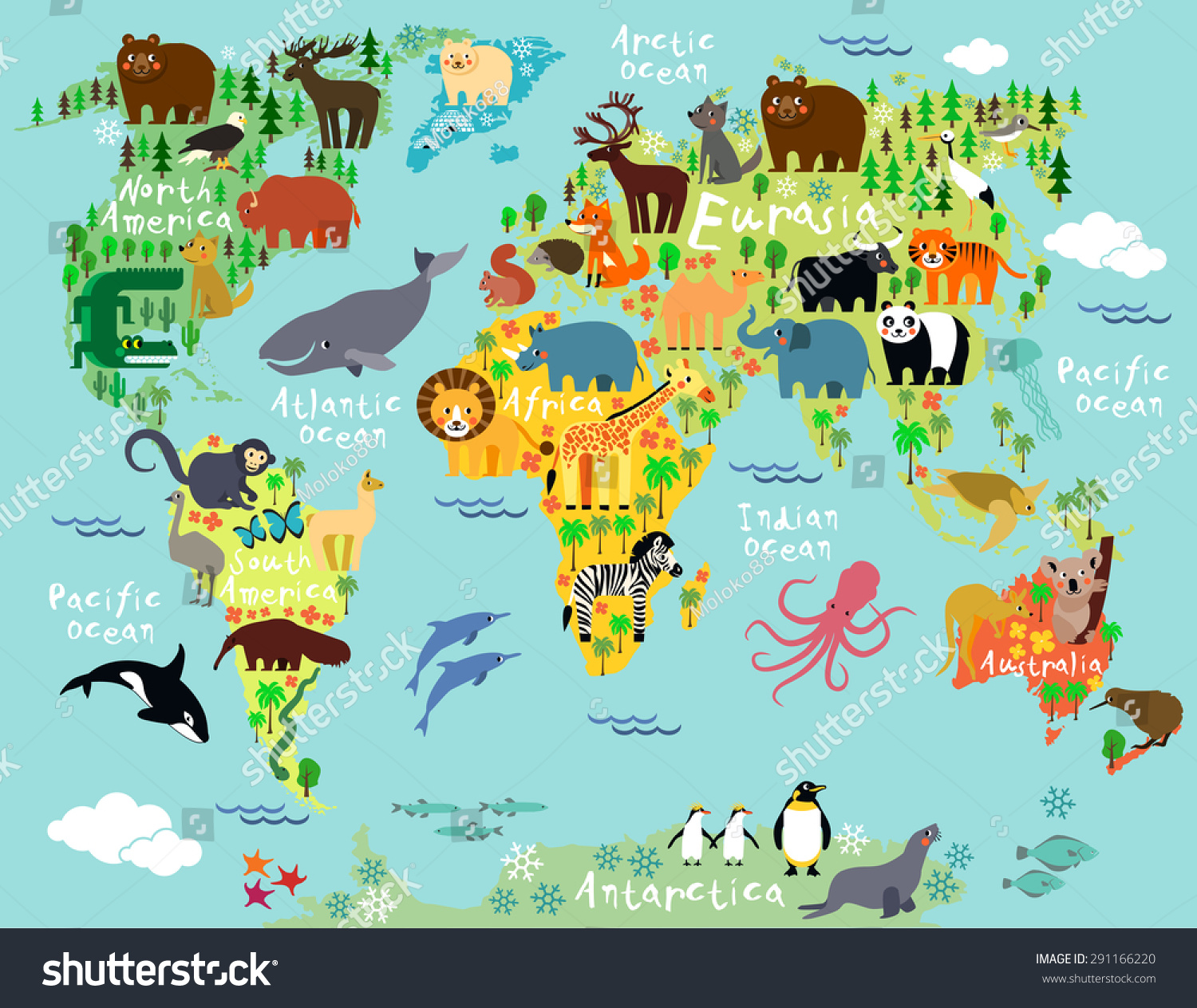 Animal Map World Children Kids Stock Vector (Royalty Free ... on world religion map, big world map, most beautiful map, world language families map, 1910s world map, global world map, cold desert world map, old world map, rivers on world map, red sea on world map, america centered world map, spanish world map, cute world map, m world map, world political map, andes mountains on world map, tectonic plate boundaries world map, world time zone map, detailed world atlas map,
